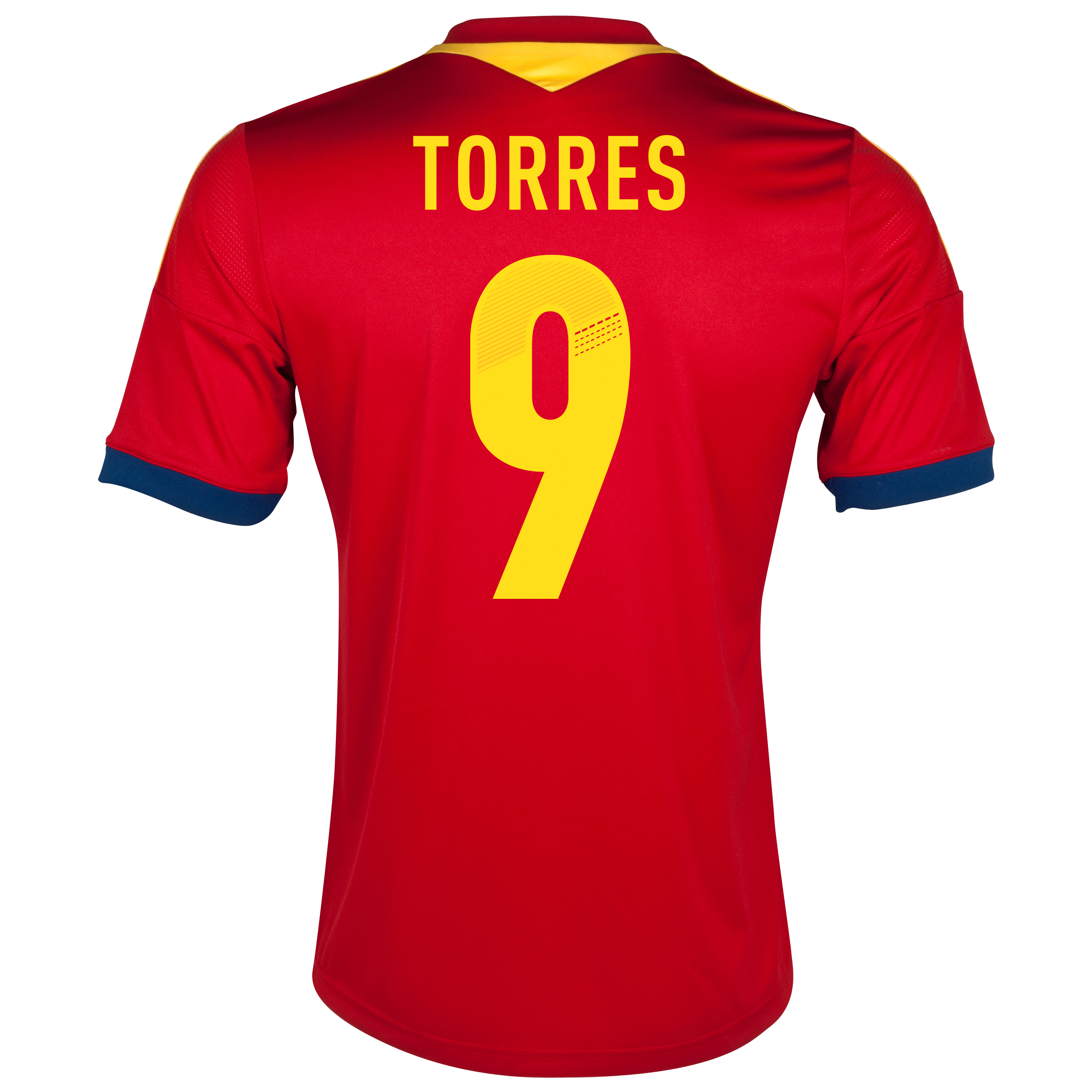 Spain Home Shirt 2013 with Torres 9 printing