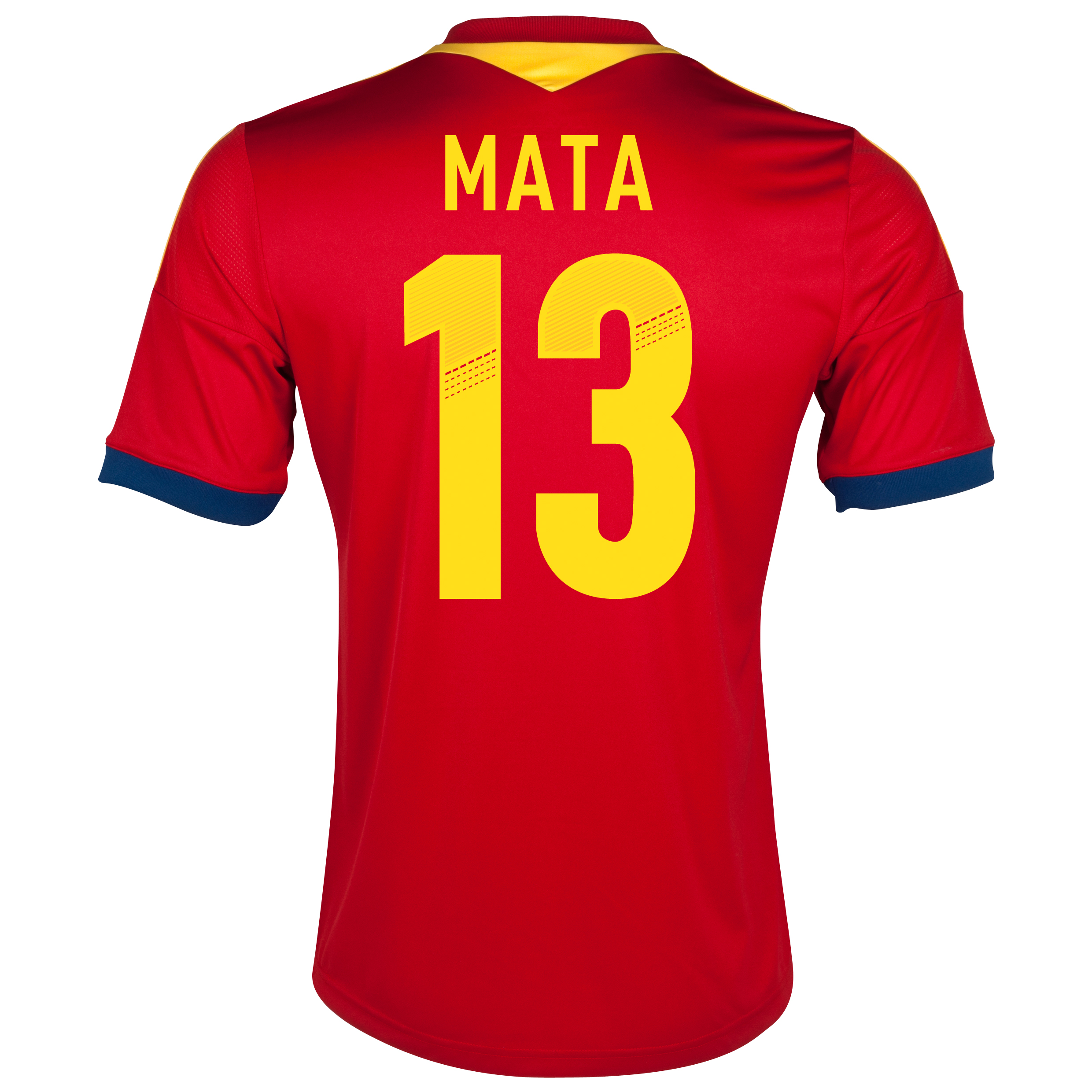 Spain Home Shirt 2013 with Mata 13 printing