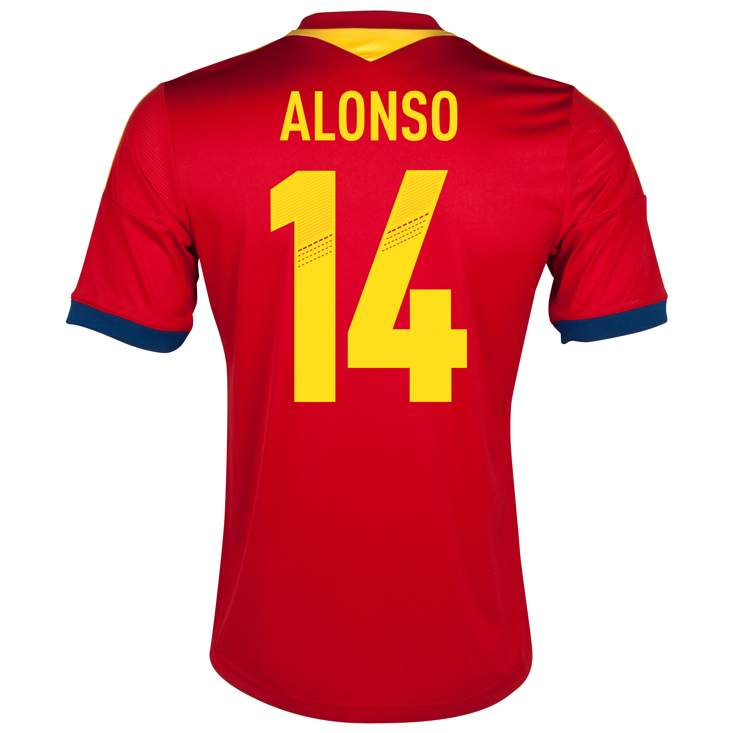 Spain Home Shirt 2013 with Alonso 14 printing