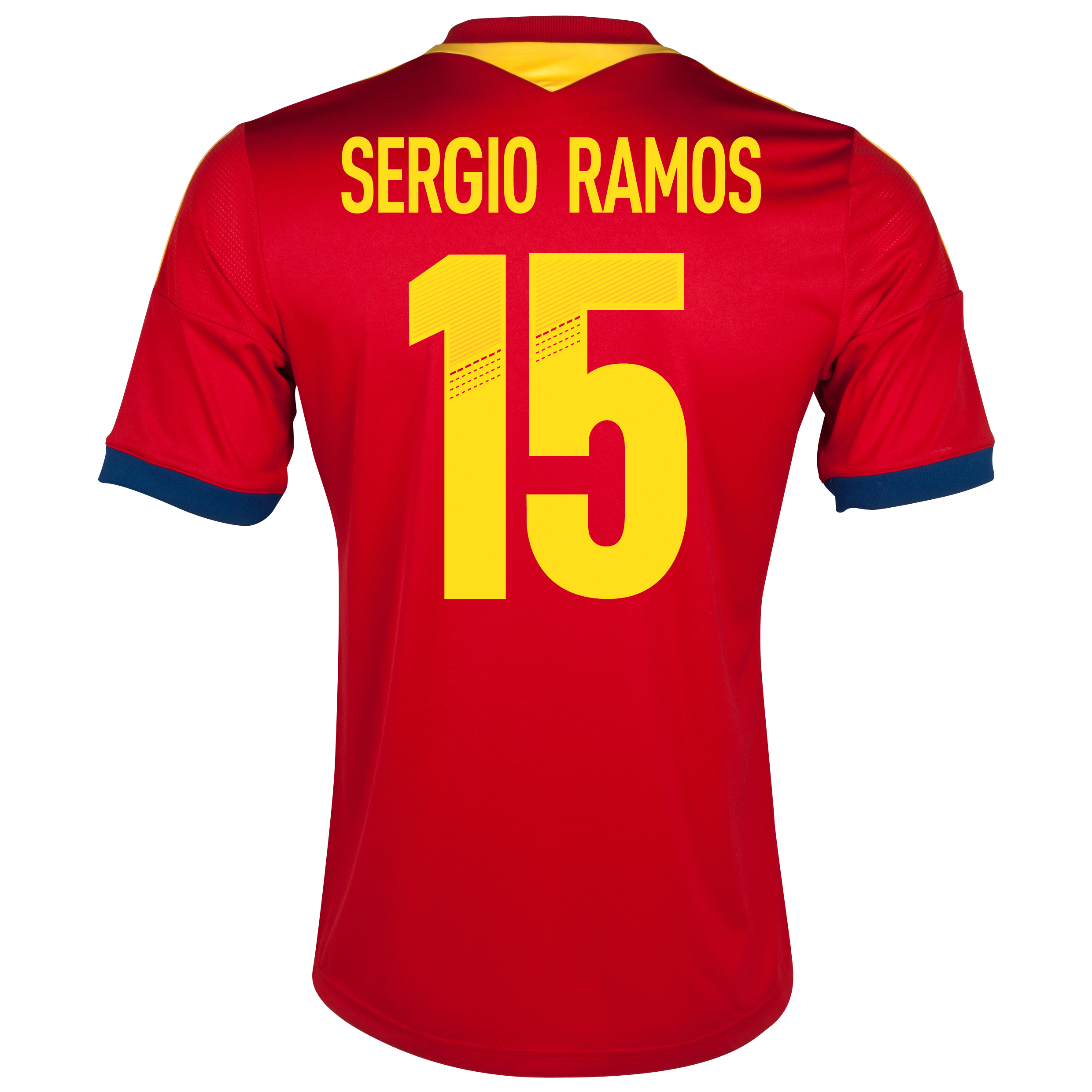 Spain Home Shirt 2013 with Sergio Ramos 15 printing
