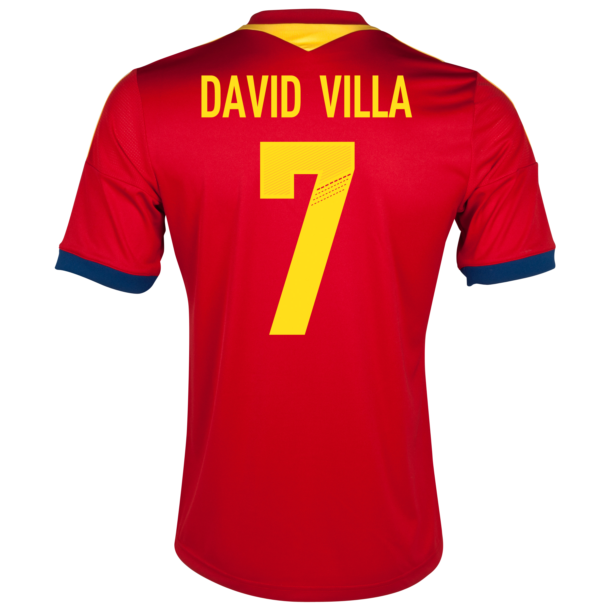 Spain Home Shirt 2013 - Youths with David Villa 7 printing