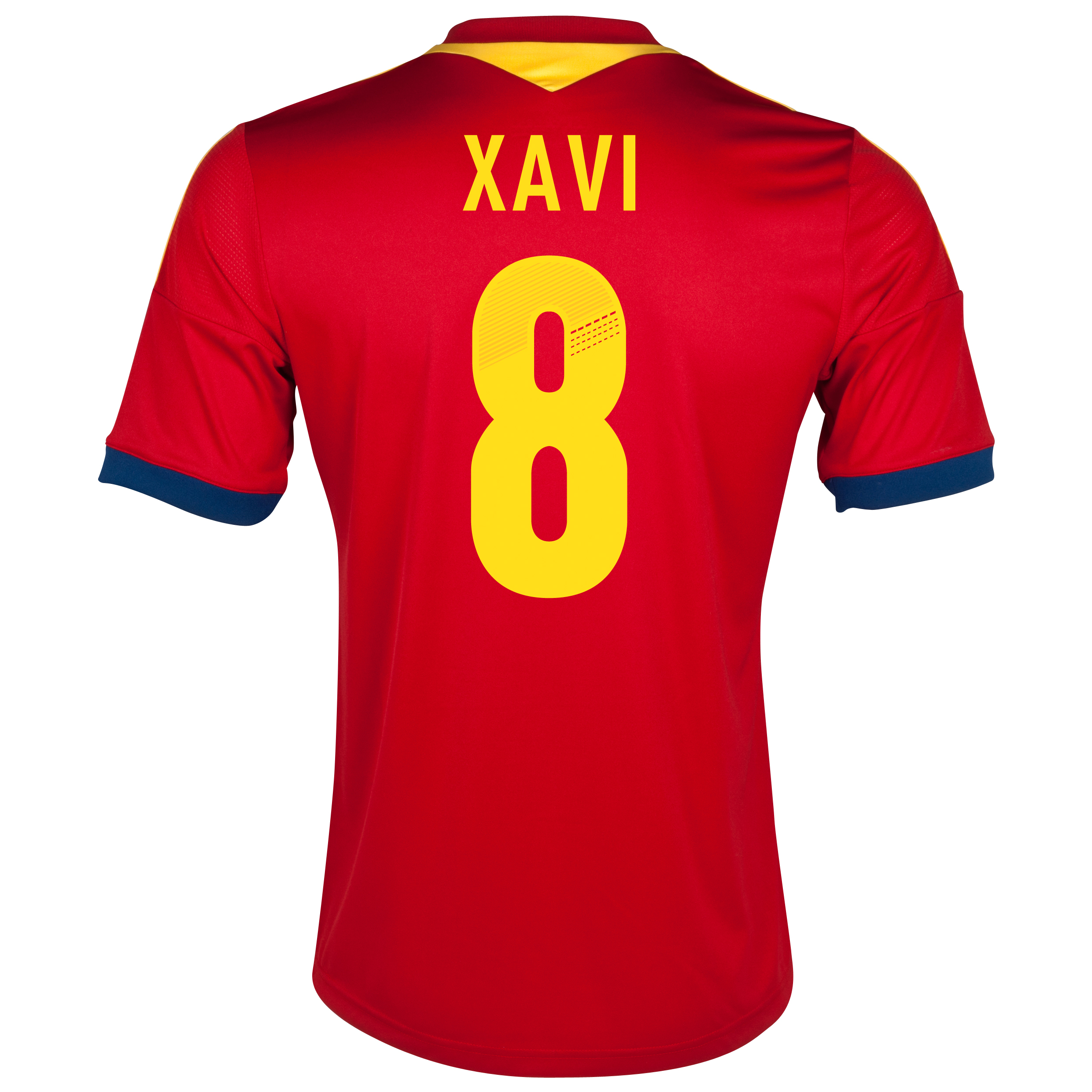 Spain Home Shirt 2013 - Youths with Xavi 8 printing