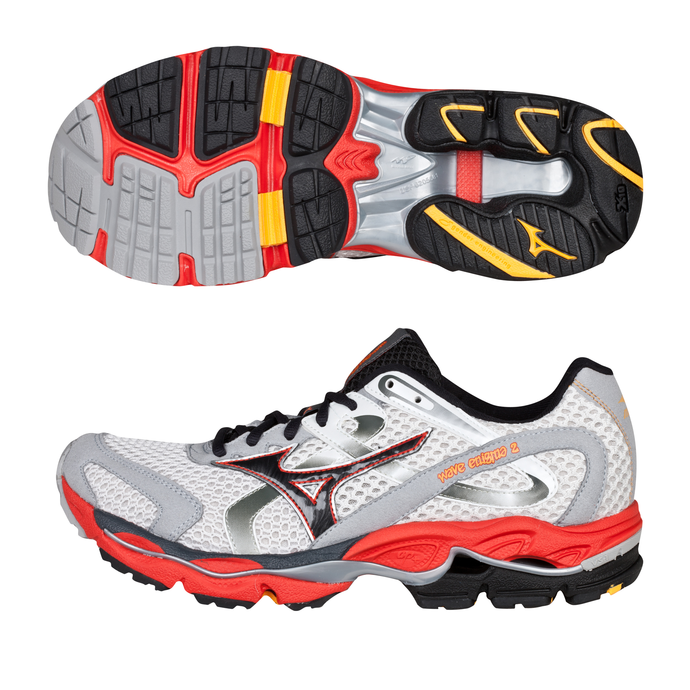 Mizuno Wave Enigma 2 Trainer - White/Anthracite/Orange