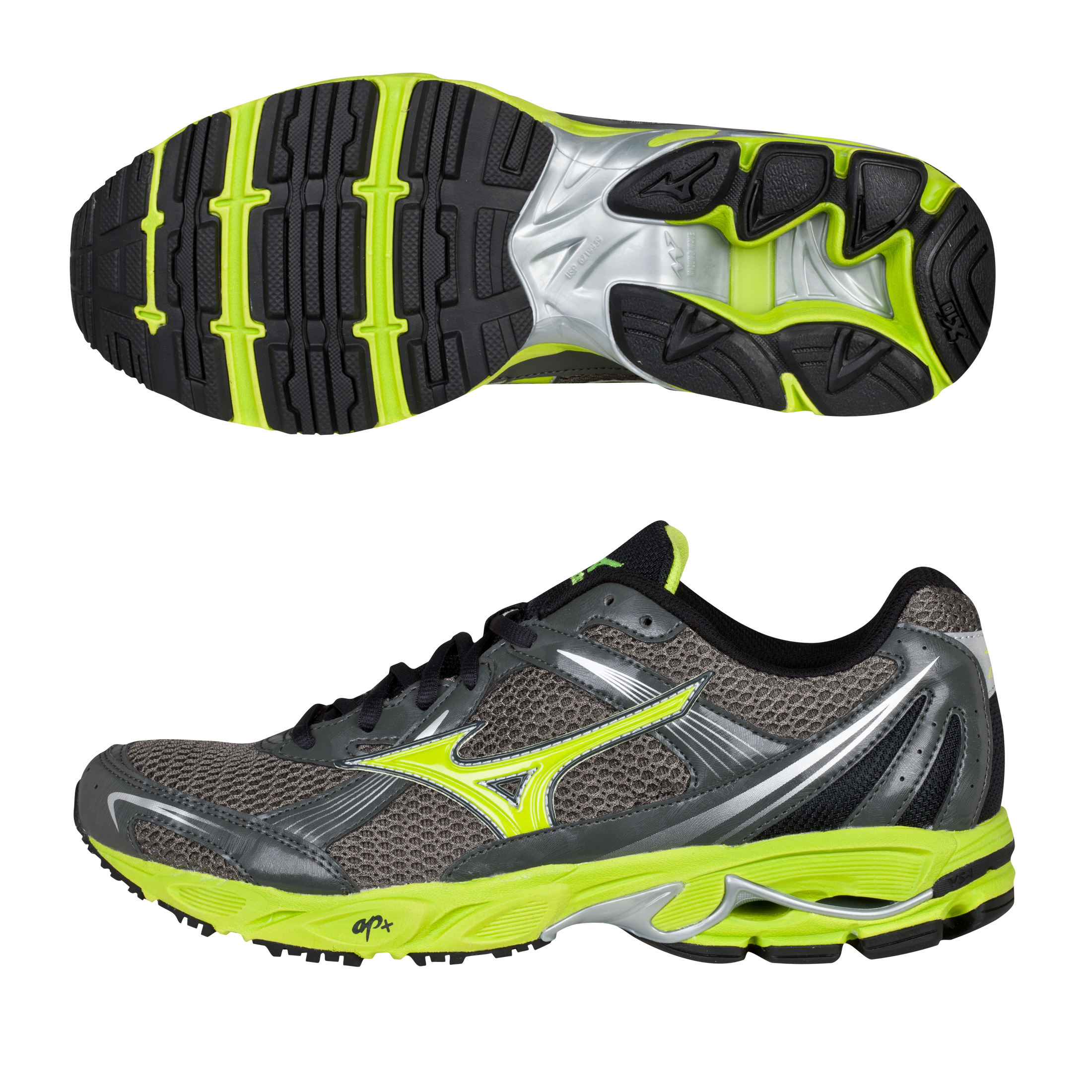 Mizuno Ovation 2 Trainer - Gunmetal/Lime Punch/Anthracite