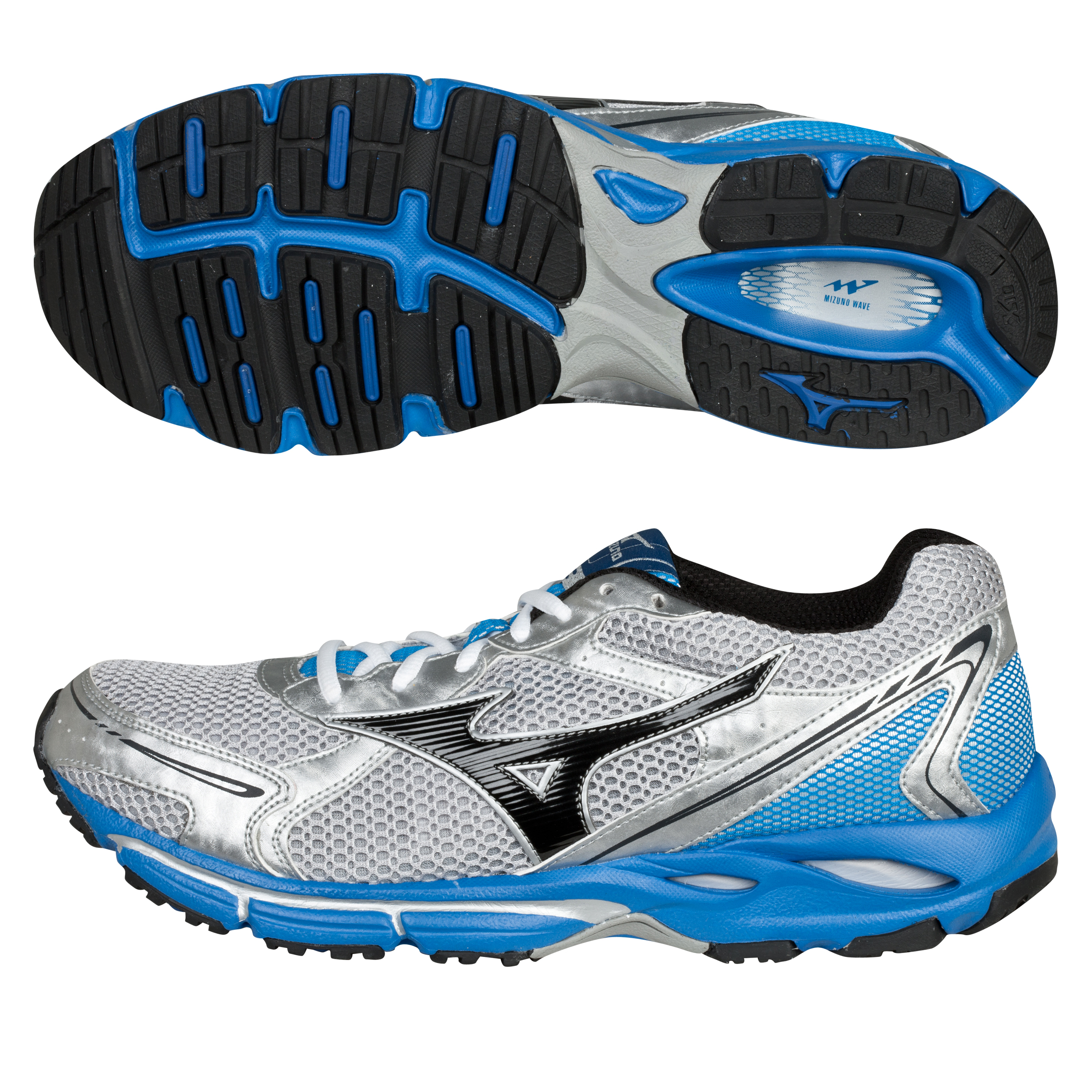 Mizuno Wave Resolute Trainer - Silver/Anthracite/Imperial Blue