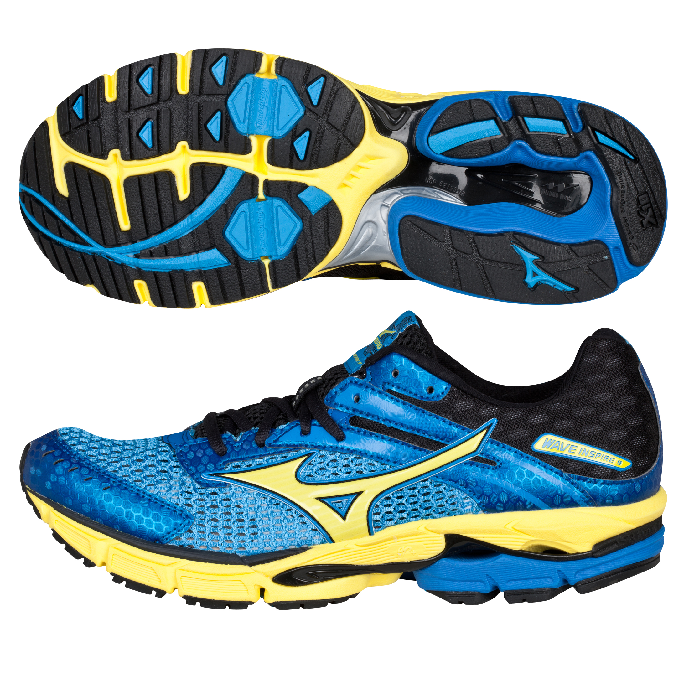 Mizuno Wave Inspire 9 Trainer - Malibu Blue/Blazing Yellow/Anthracite