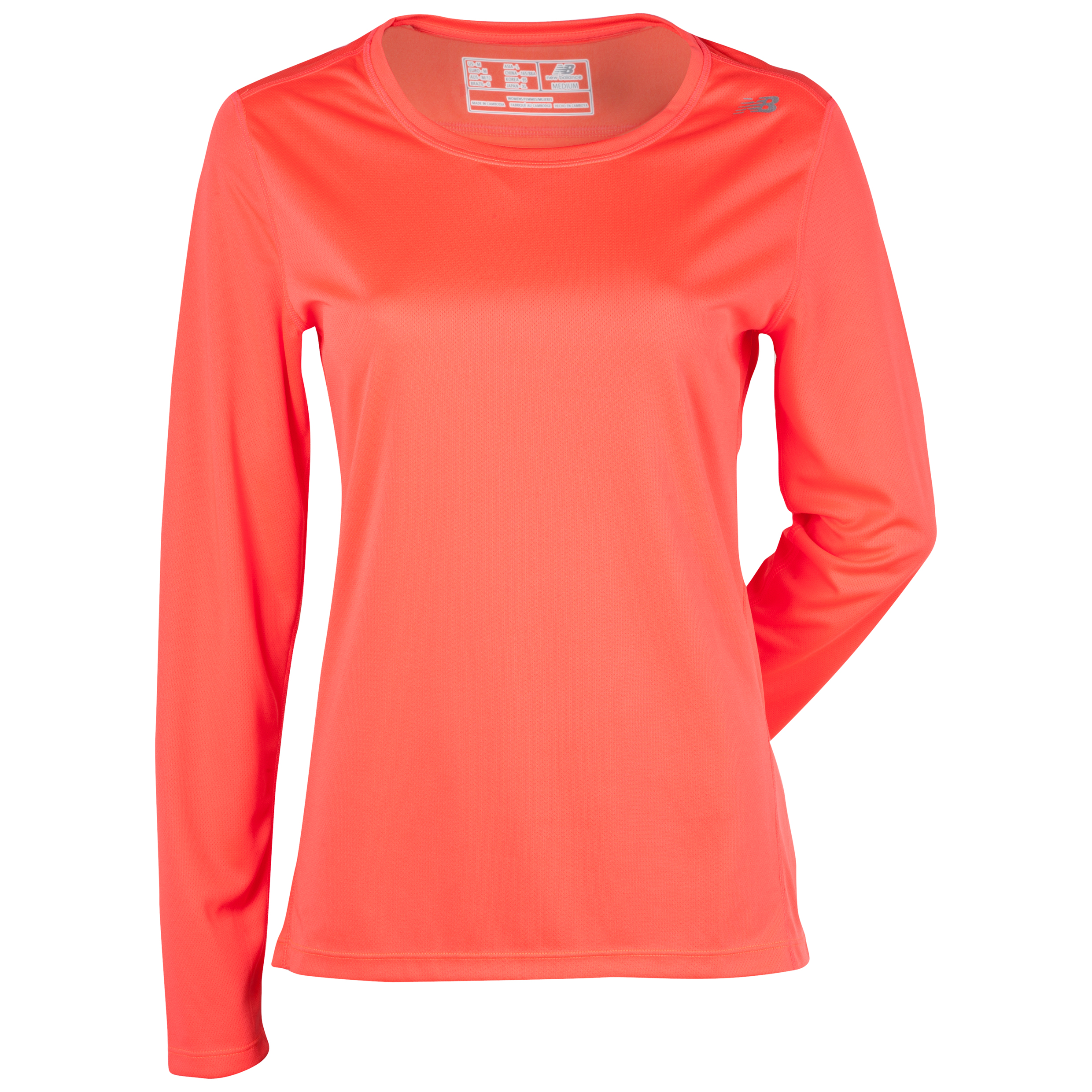 New Balance Go 2 Long Sleeve - Fiery Coral - Womens