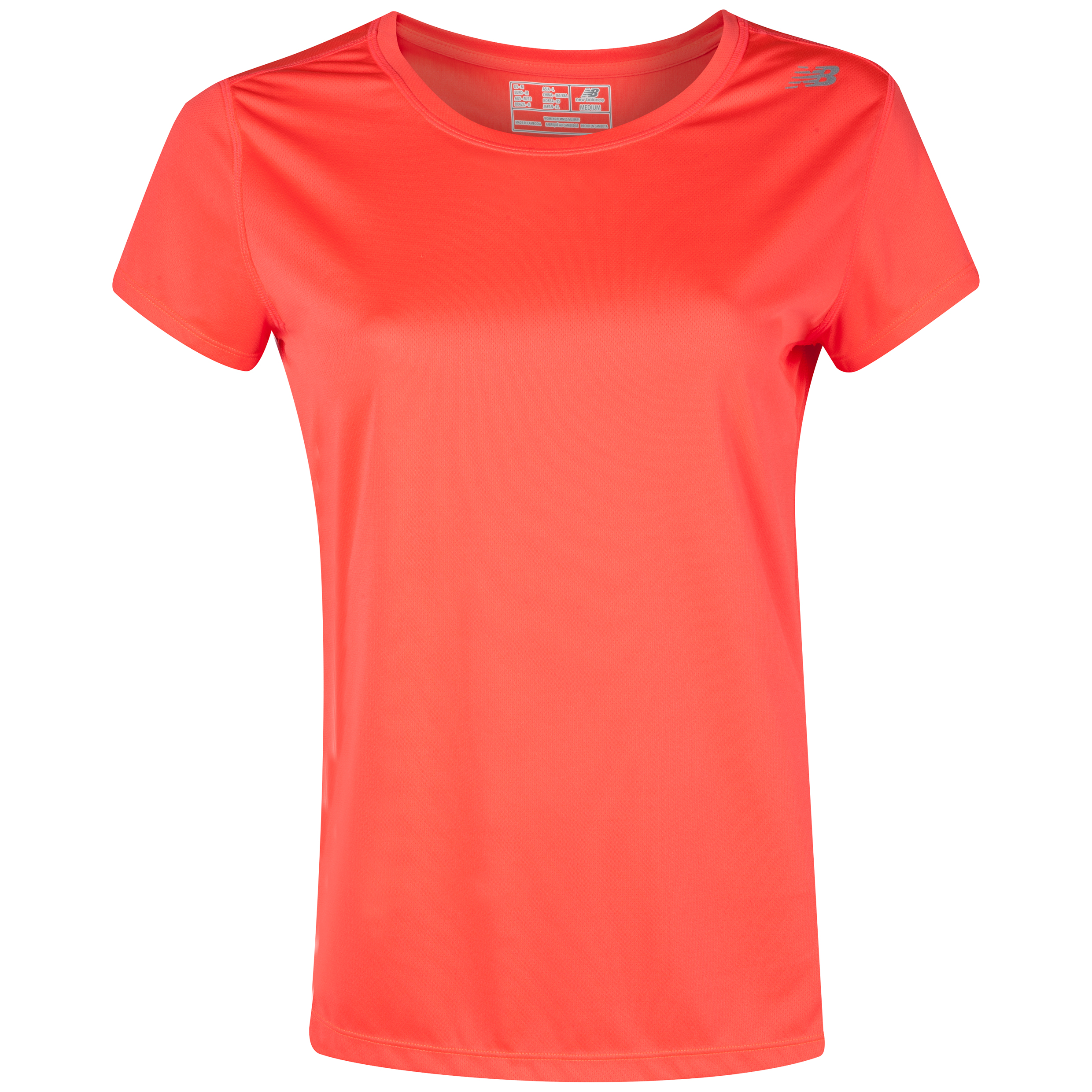 New Balance Go 2 Short Sleeve- Fiery Coral - Womens