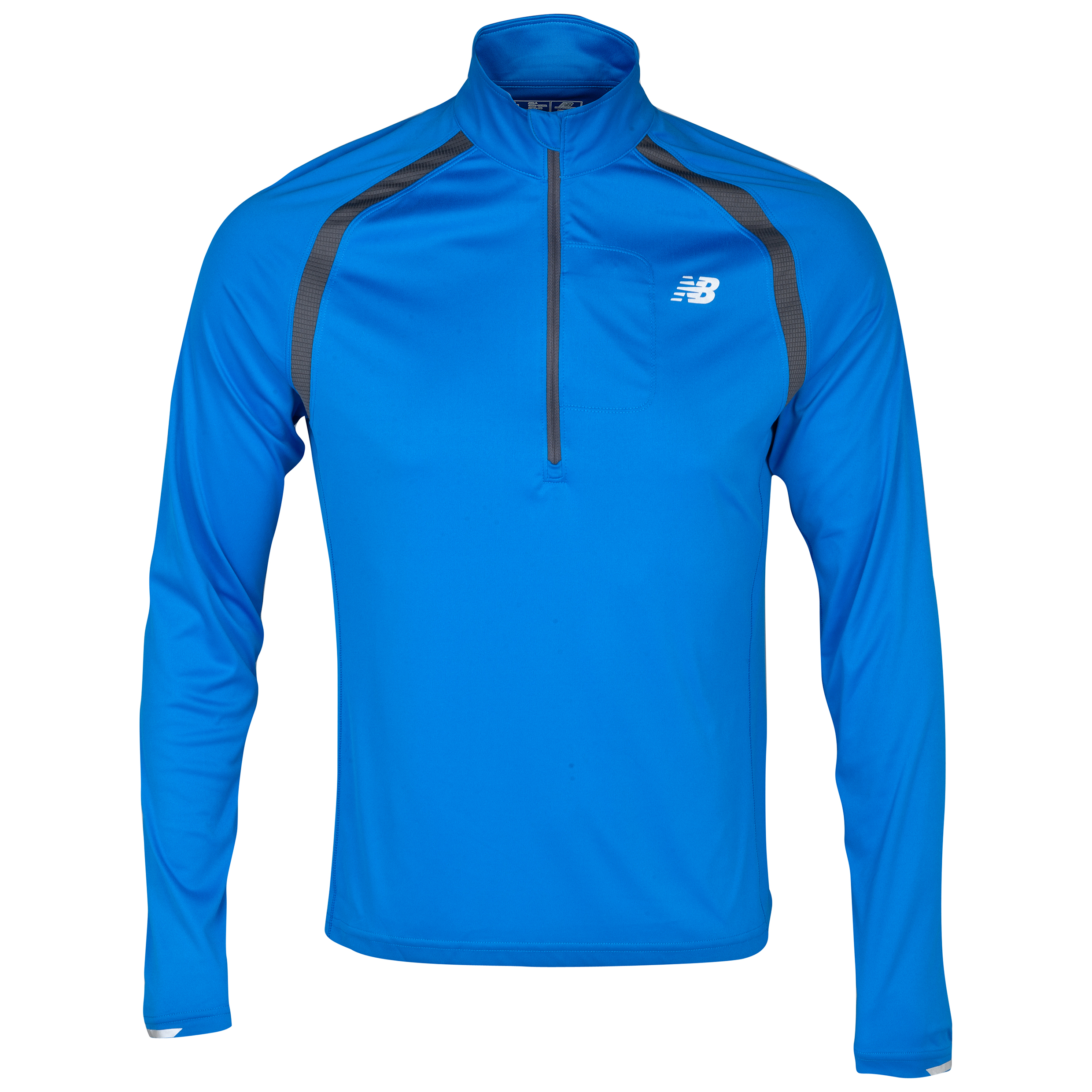 New Balance Impact 1/2 Zip Long Sleeve Top - Vision Blue