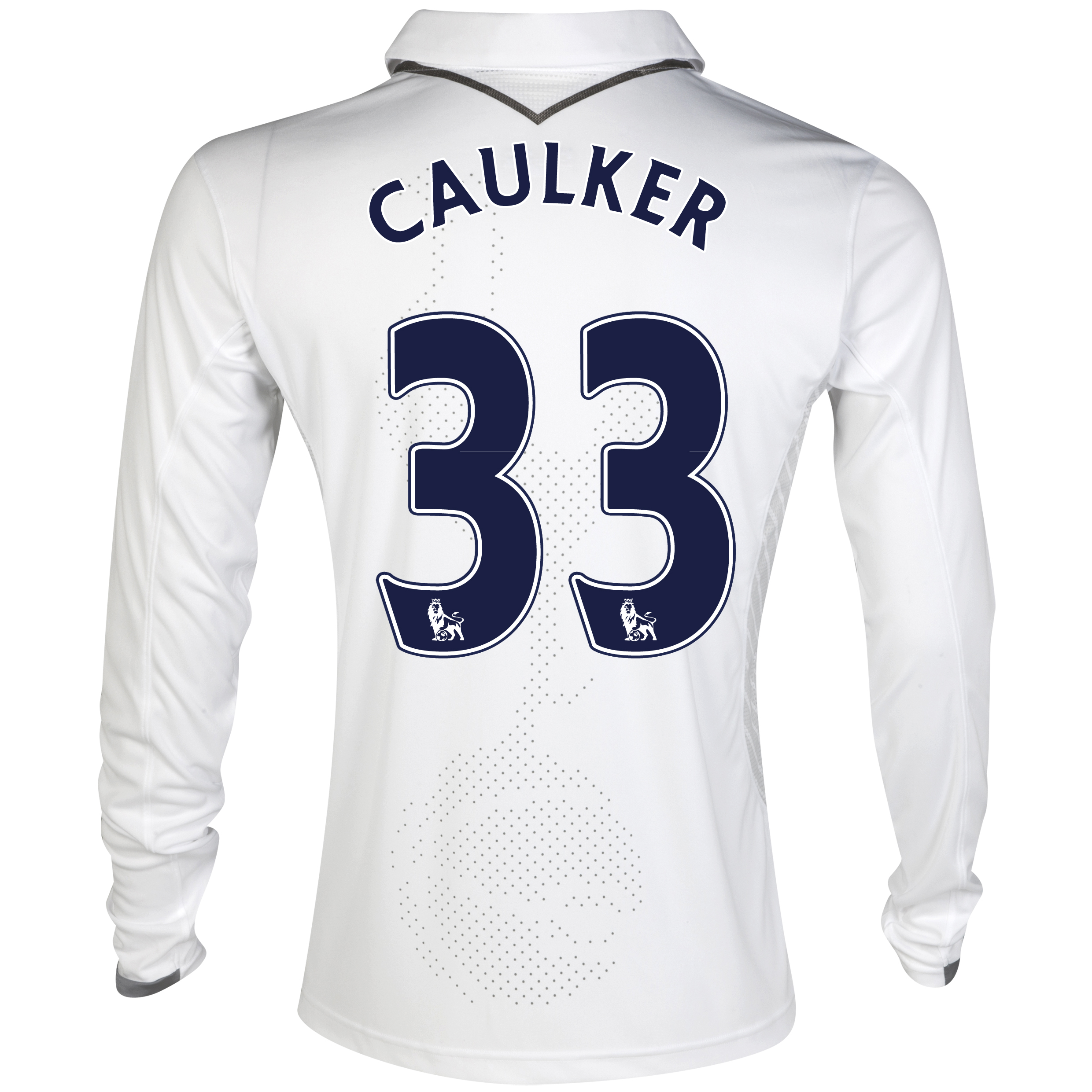 Tottenham Hotspur Home Shirt 2012/13 - Long Sleeve with Caulker 33 printing
