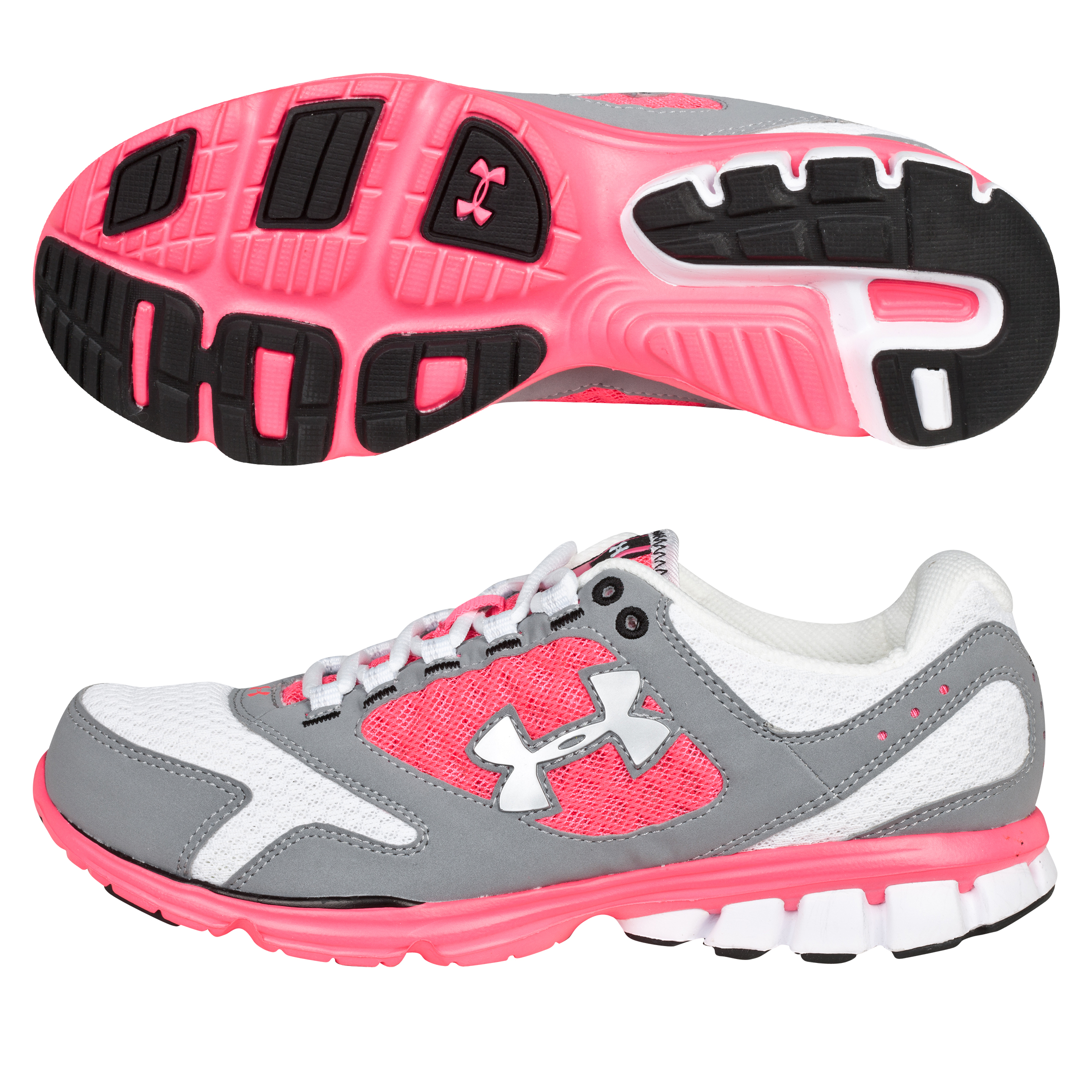 Under Armour Womens Assert II Trainer - White/Pink