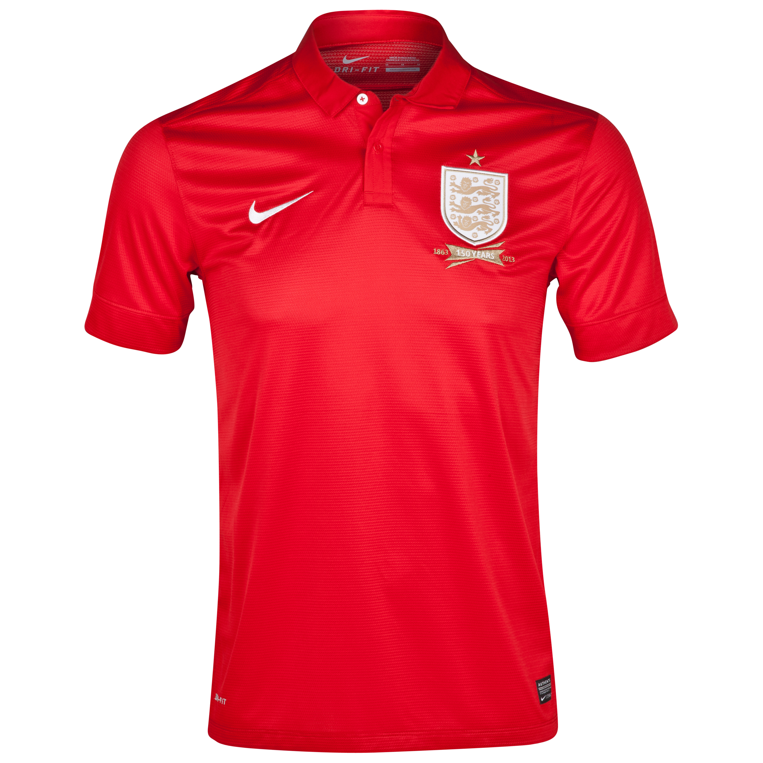 England Away Shirt 2013/14 - Mens Red
