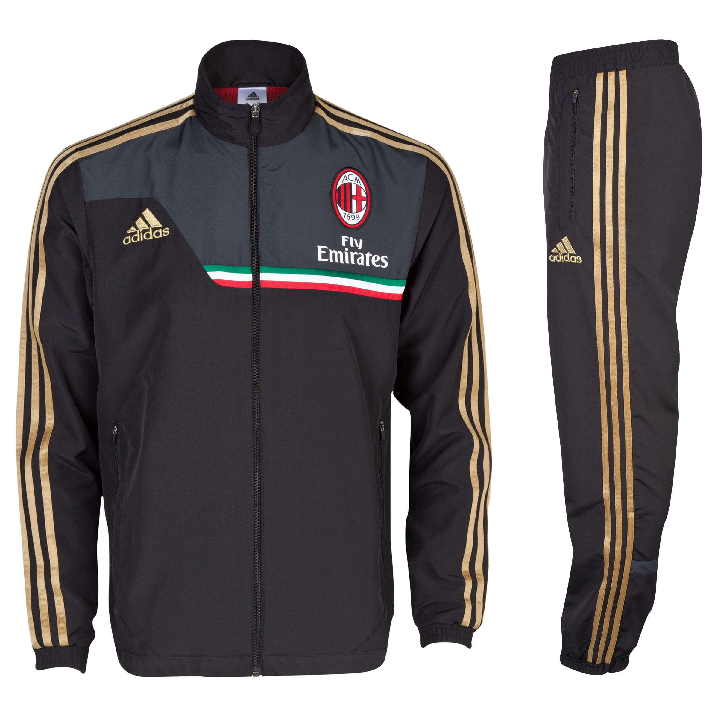 AC Milan Training Presentation Suit Black