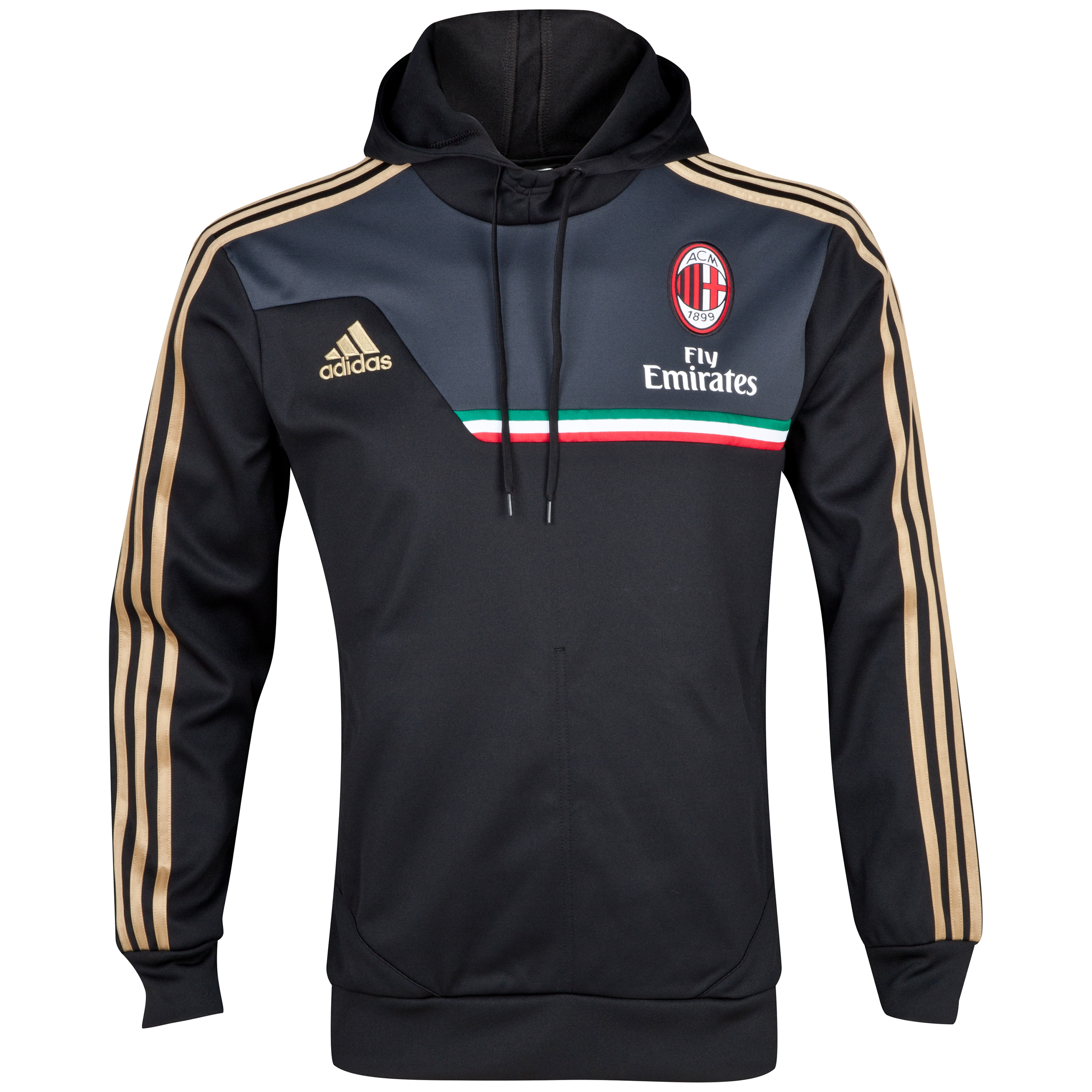 AC Milan Training Hooded Sweatshirt Black