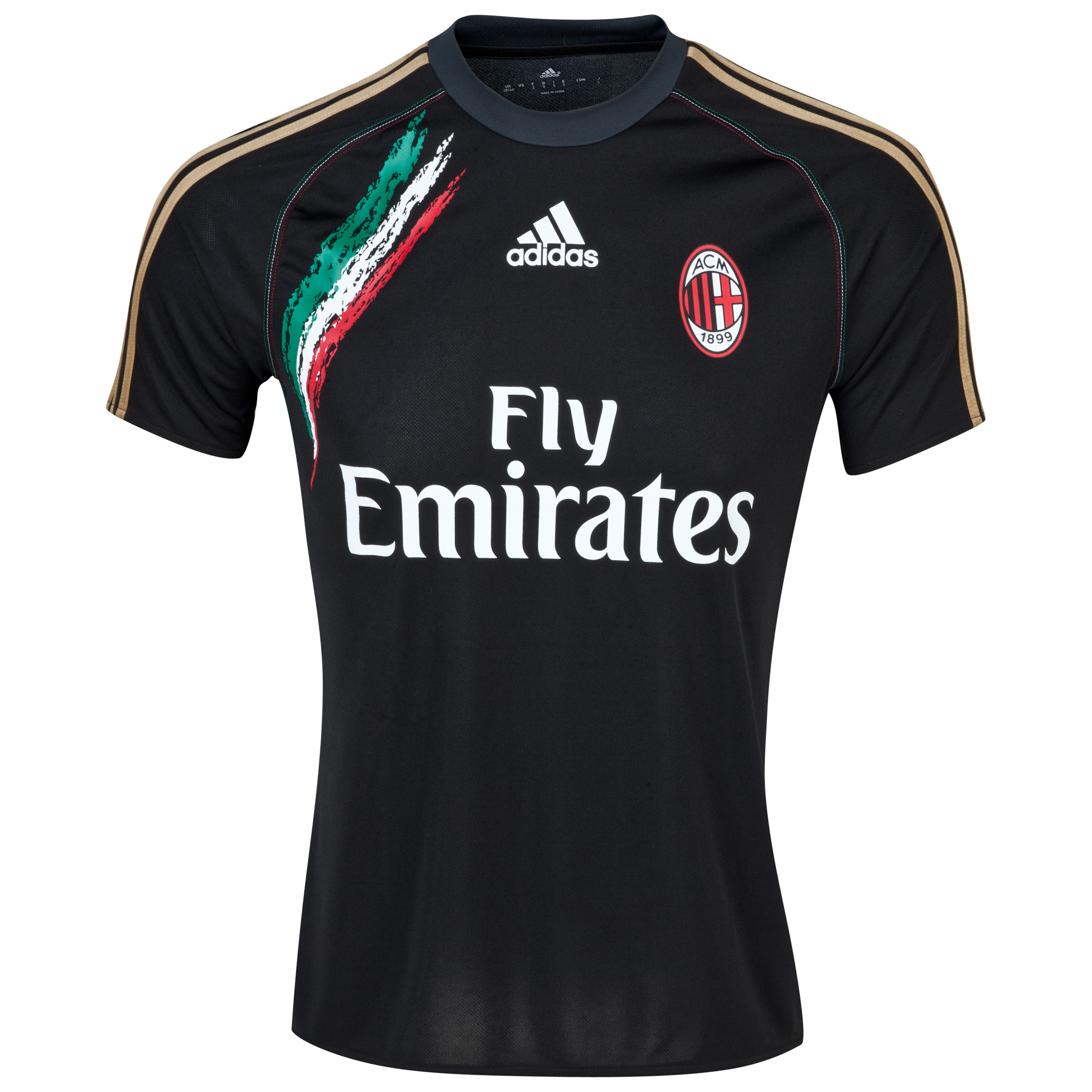 AC Milan Training Jersey Black