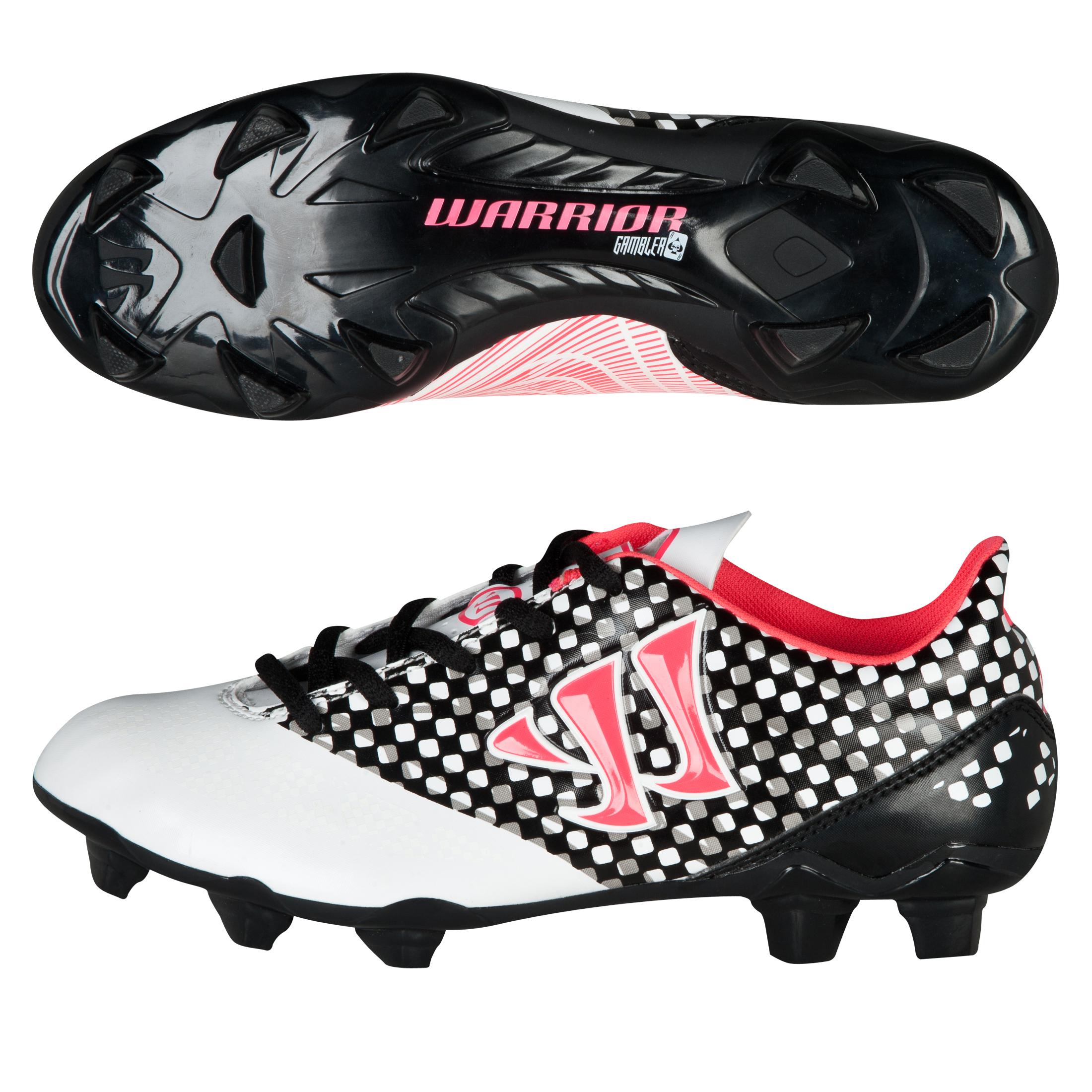 Warrior Sports Gambler Combat Firm Ground Football Boots - Kids White