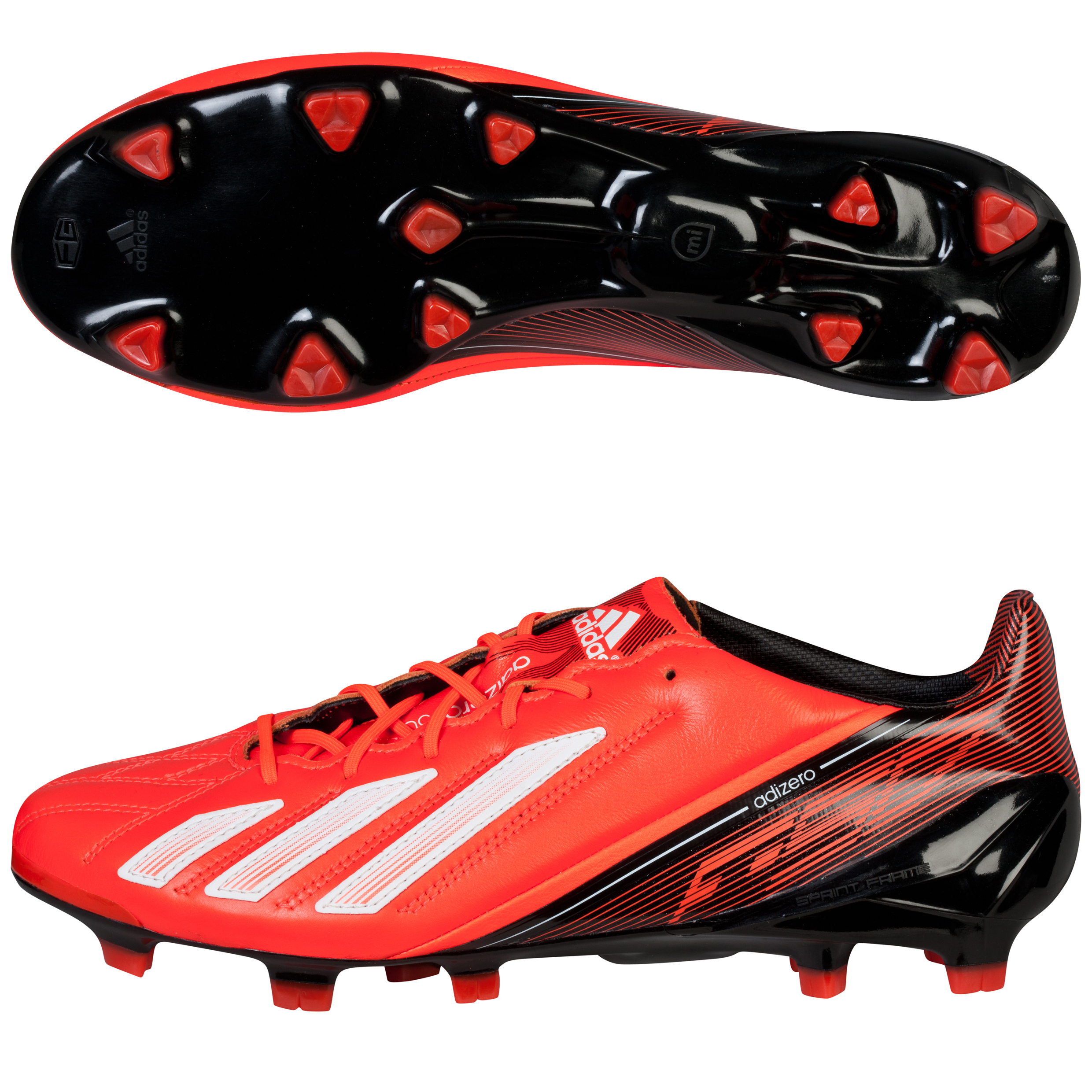 Adidas adizero F50 TRX Leather Firm Ground Football Boots Red