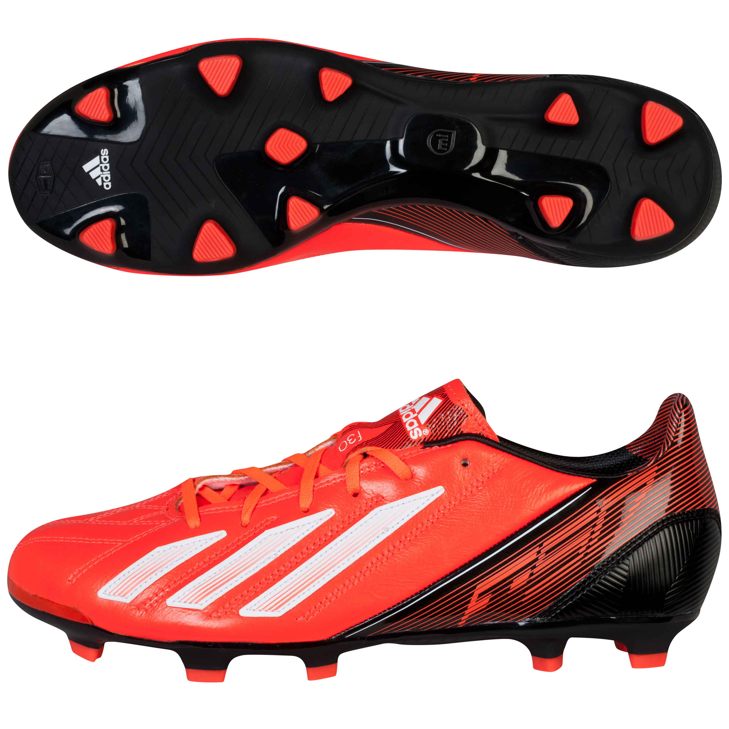 Adidas F30 TRX Leather Firm Ground Football Boots Red