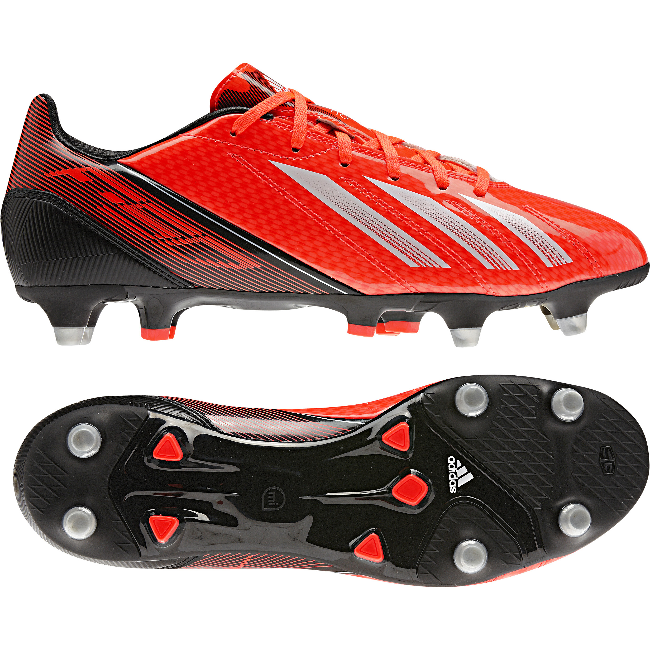 Adidas F10 TRX Soft Ground Football Boots Red
