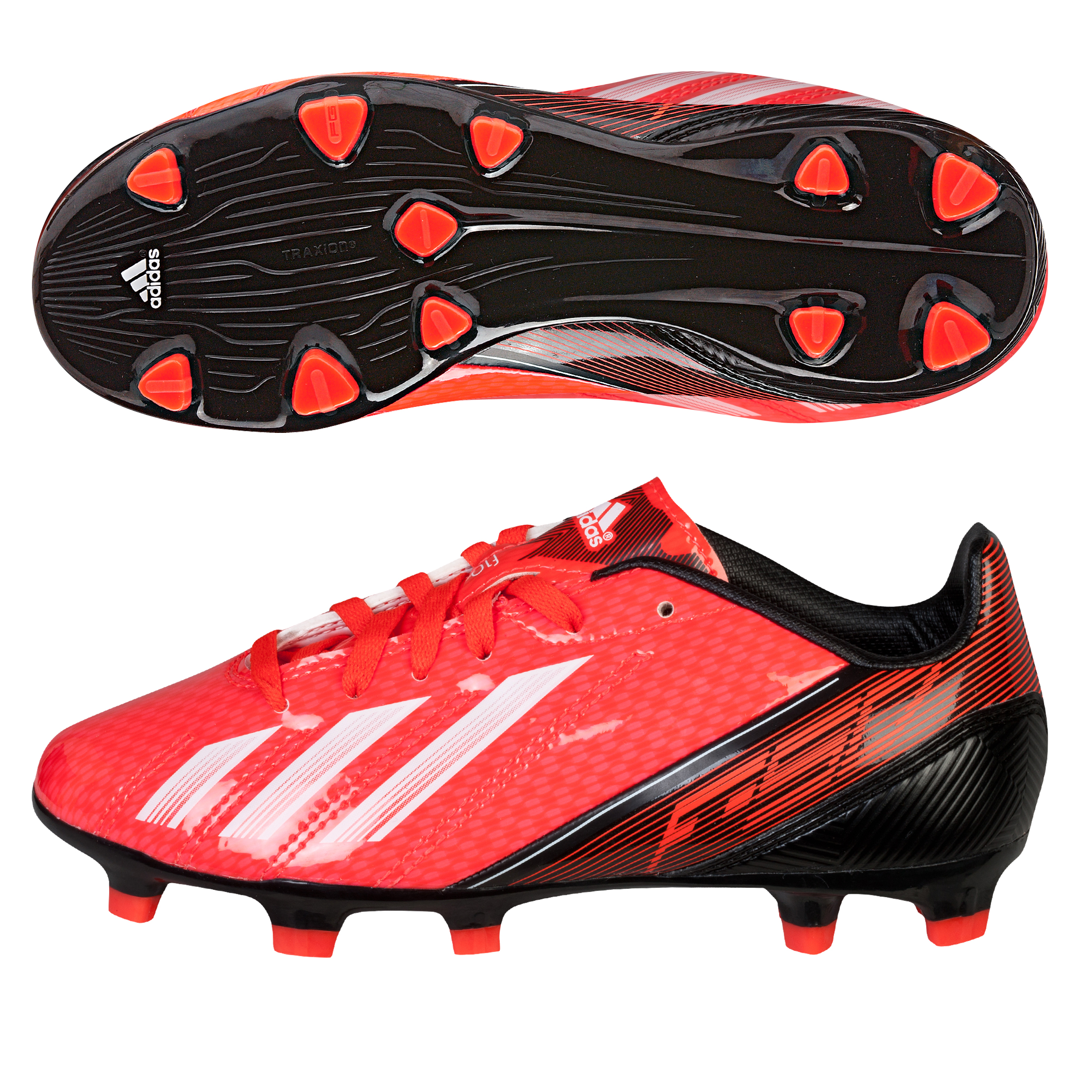 Adidas F10 TRX Firm Ground Football Boots - Kids Red
