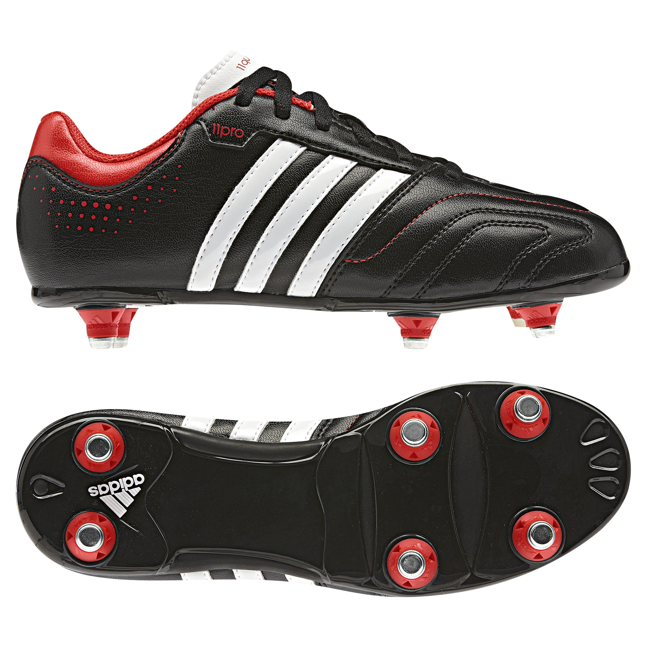 Adidas 11Questra Soft Ground Football Boots - Kids Black