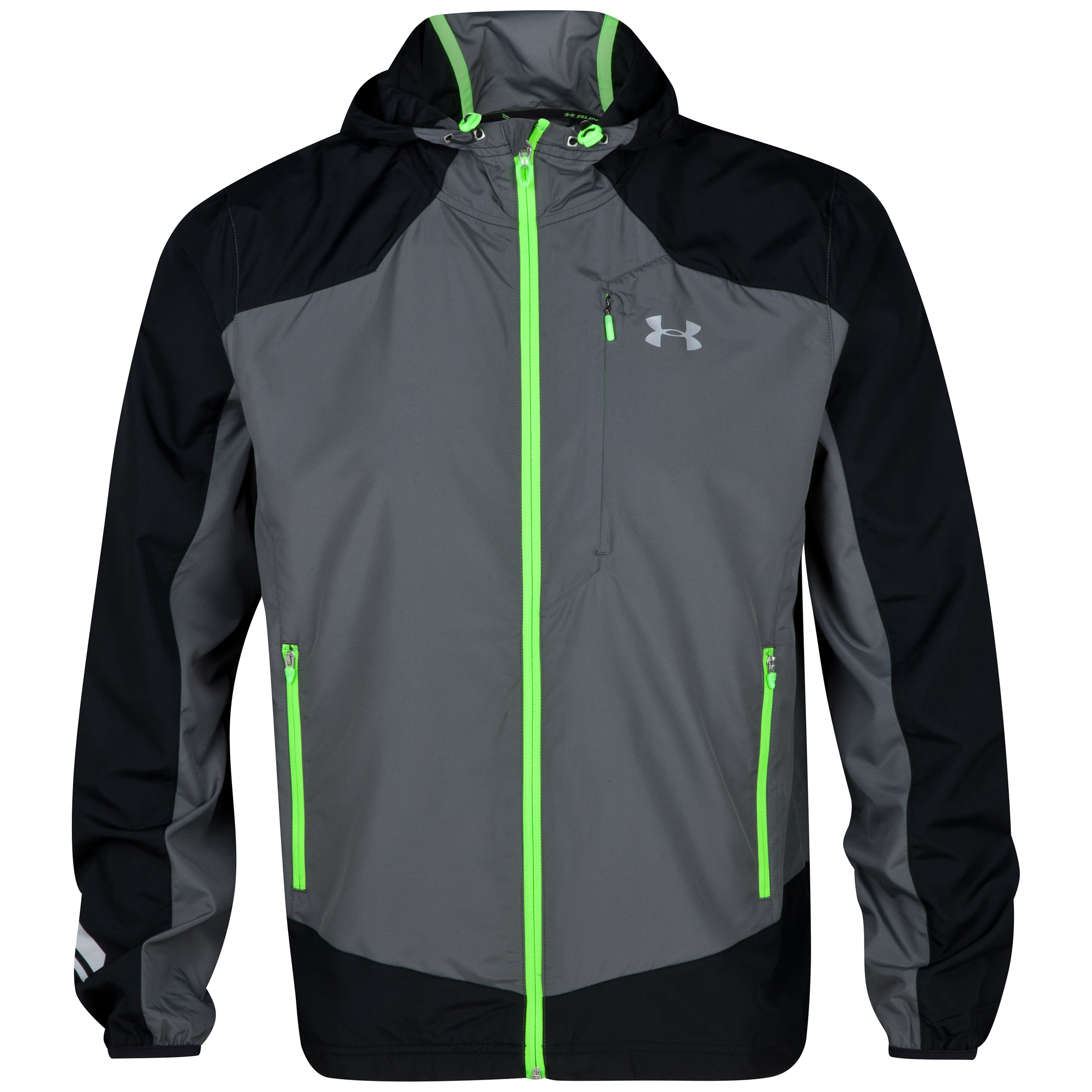 Running Under Armour Imminent Run Jacket - Graphite/Black/Hyper Green Dk Grey