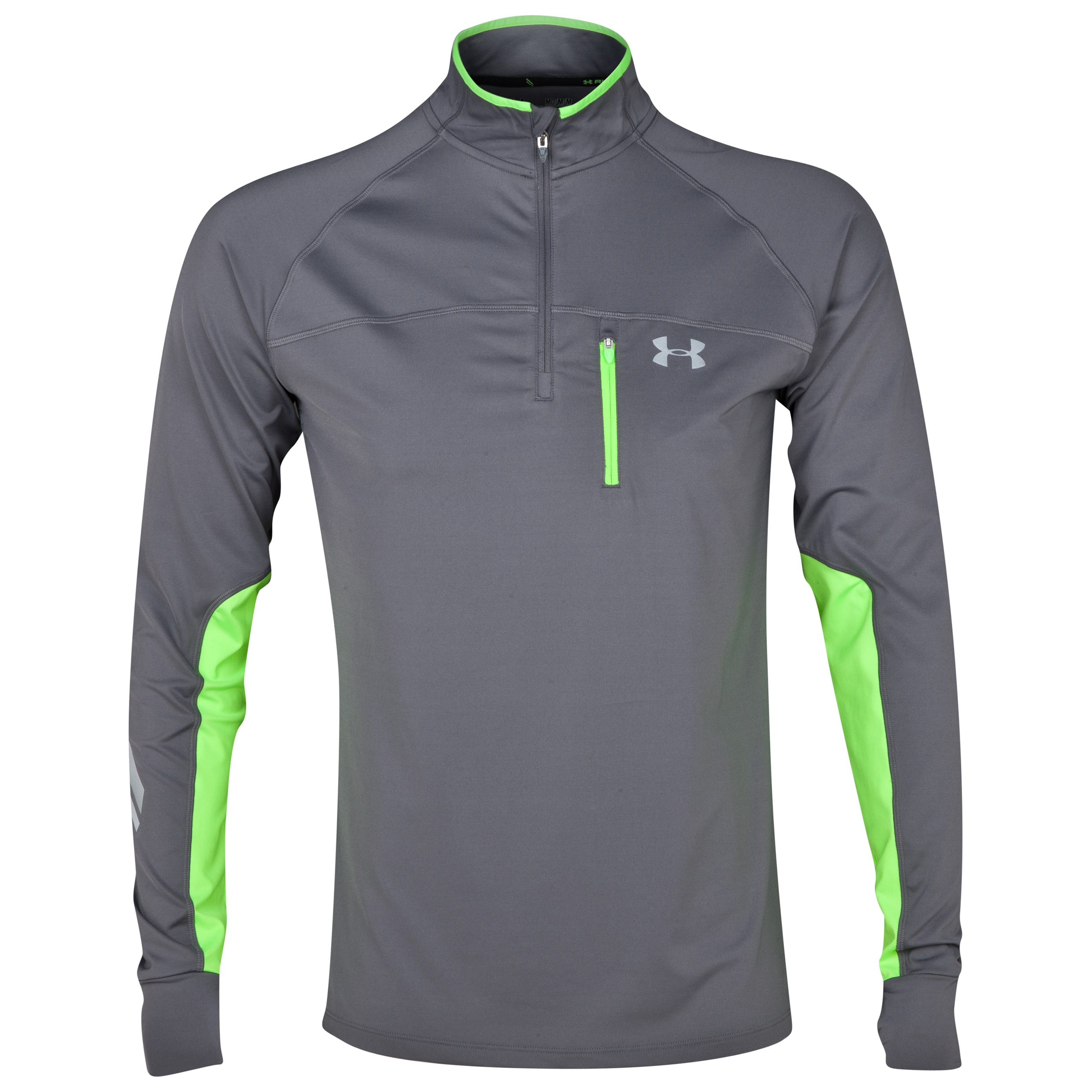 Running Under Armour Imminent Run 1/4 Zip - Graphite/Hyper Green Dk Grey