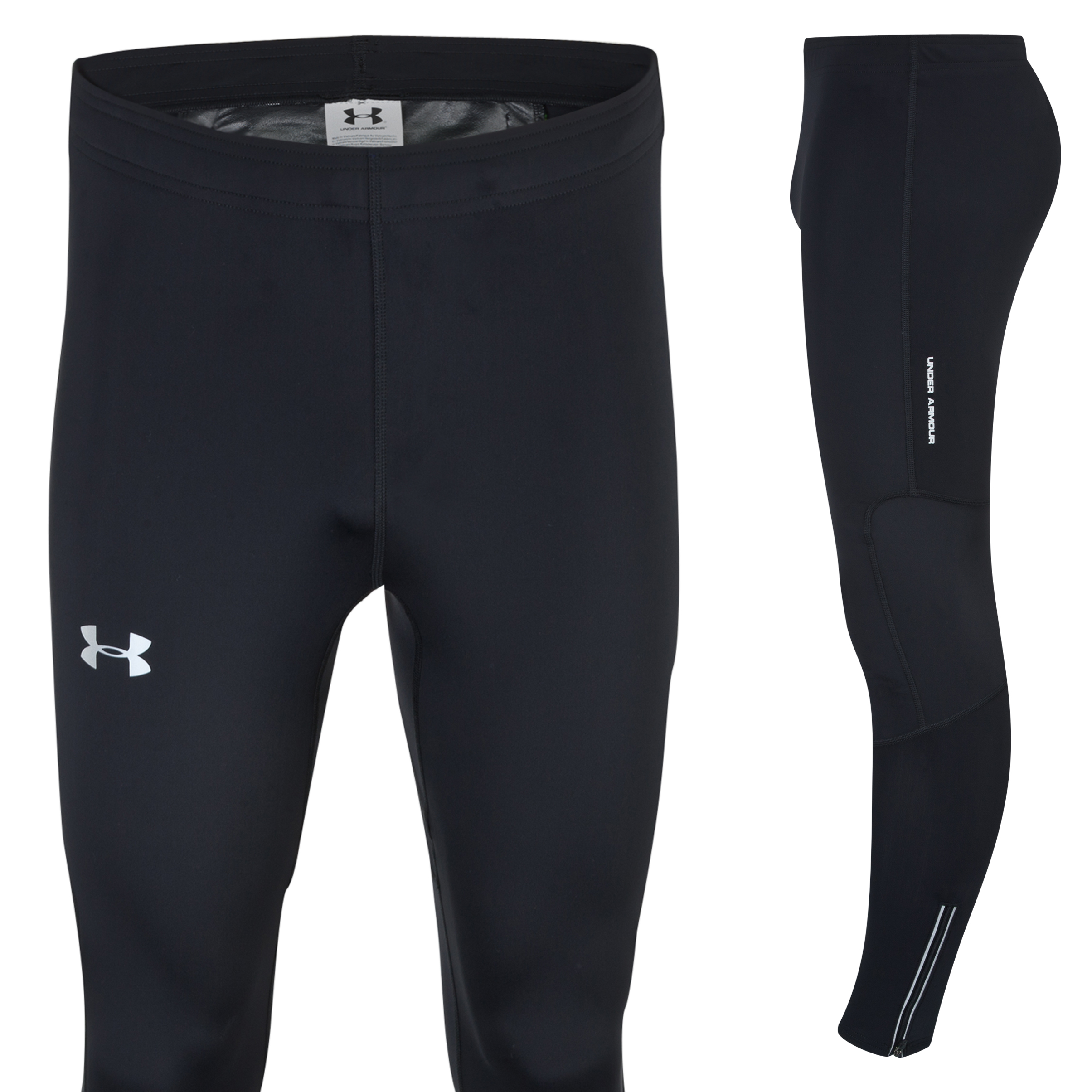 Running Under Armour Dynamic Run Compression Tight - Black/Reflective Dk Grey