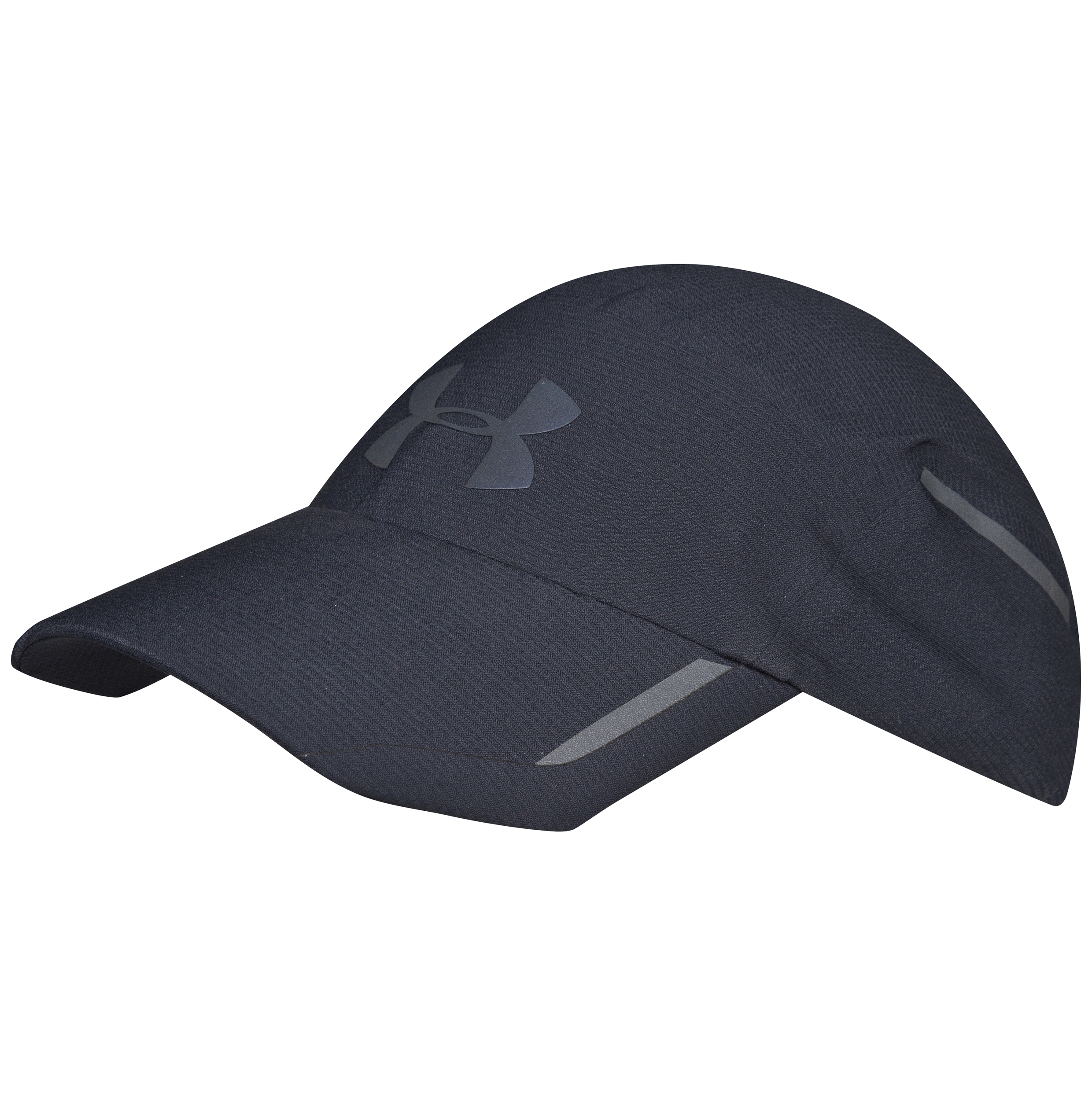Running Under Armour Qualified Lighted Run Cap - Black/Reflective Black