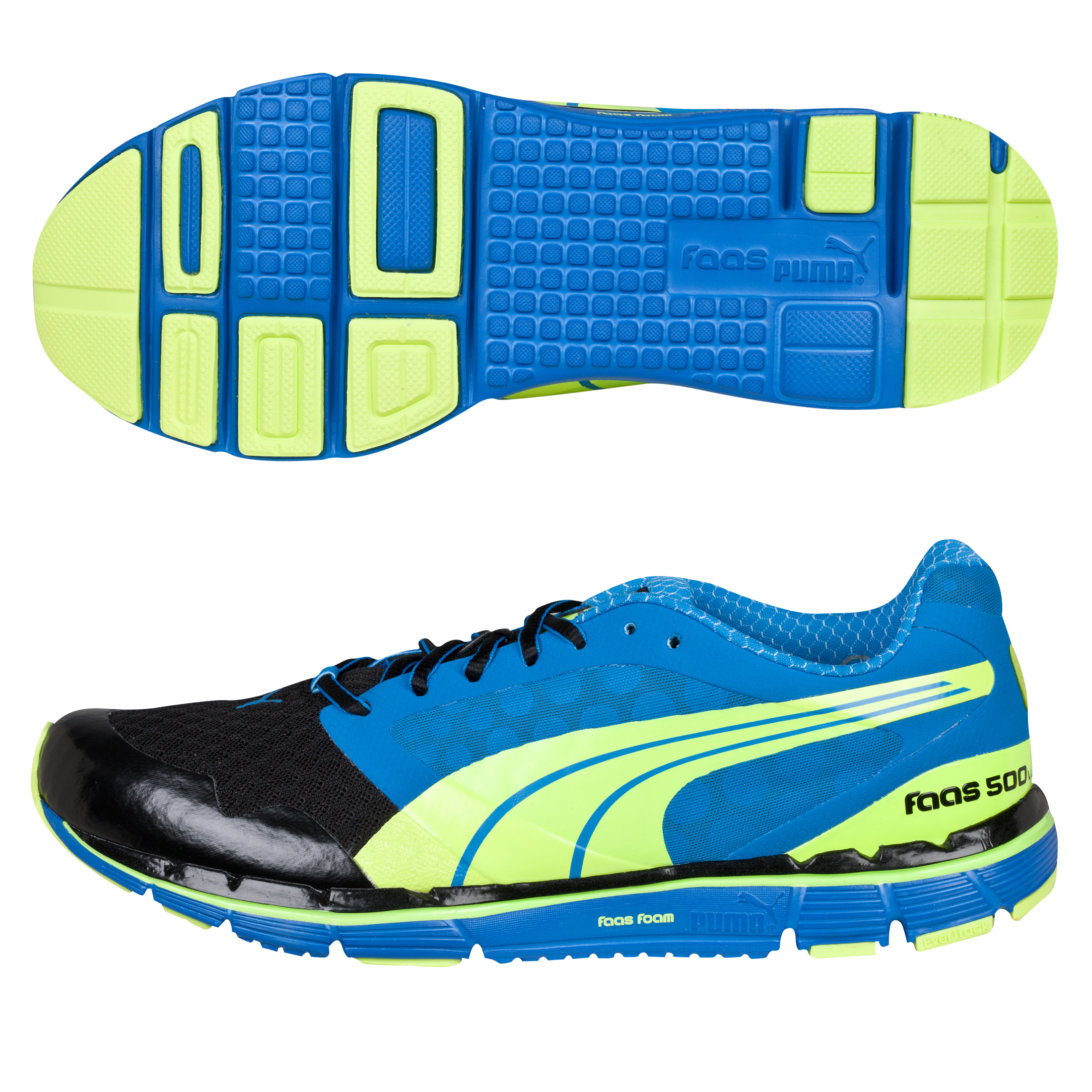 Running Puma Faas 500 v2 Trainer - Blue-Black/Fluo Yellow Blue