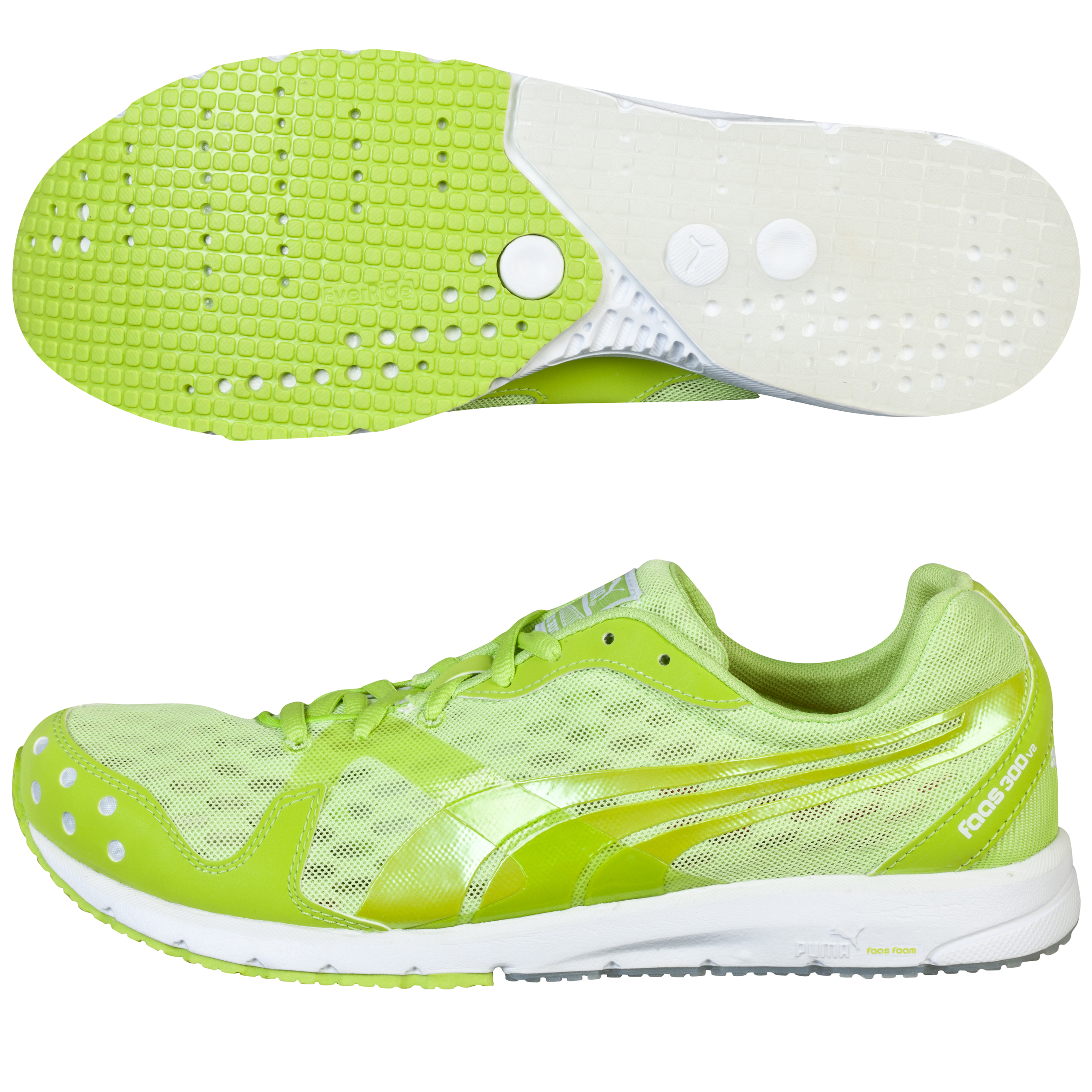 Running Puma Faas 300 v2 Glow Trainer - Lime Punch Lt Green