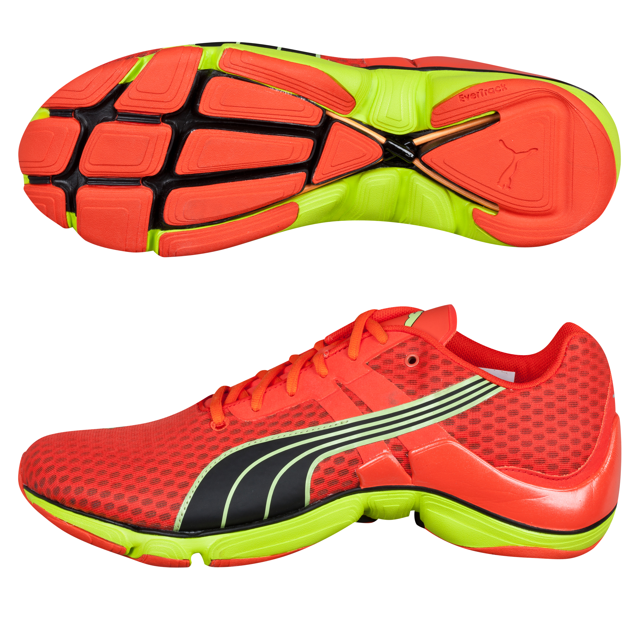 Puma Mobium Elite NM Running Trainers - Cherry Tomato/Lime-Black Red