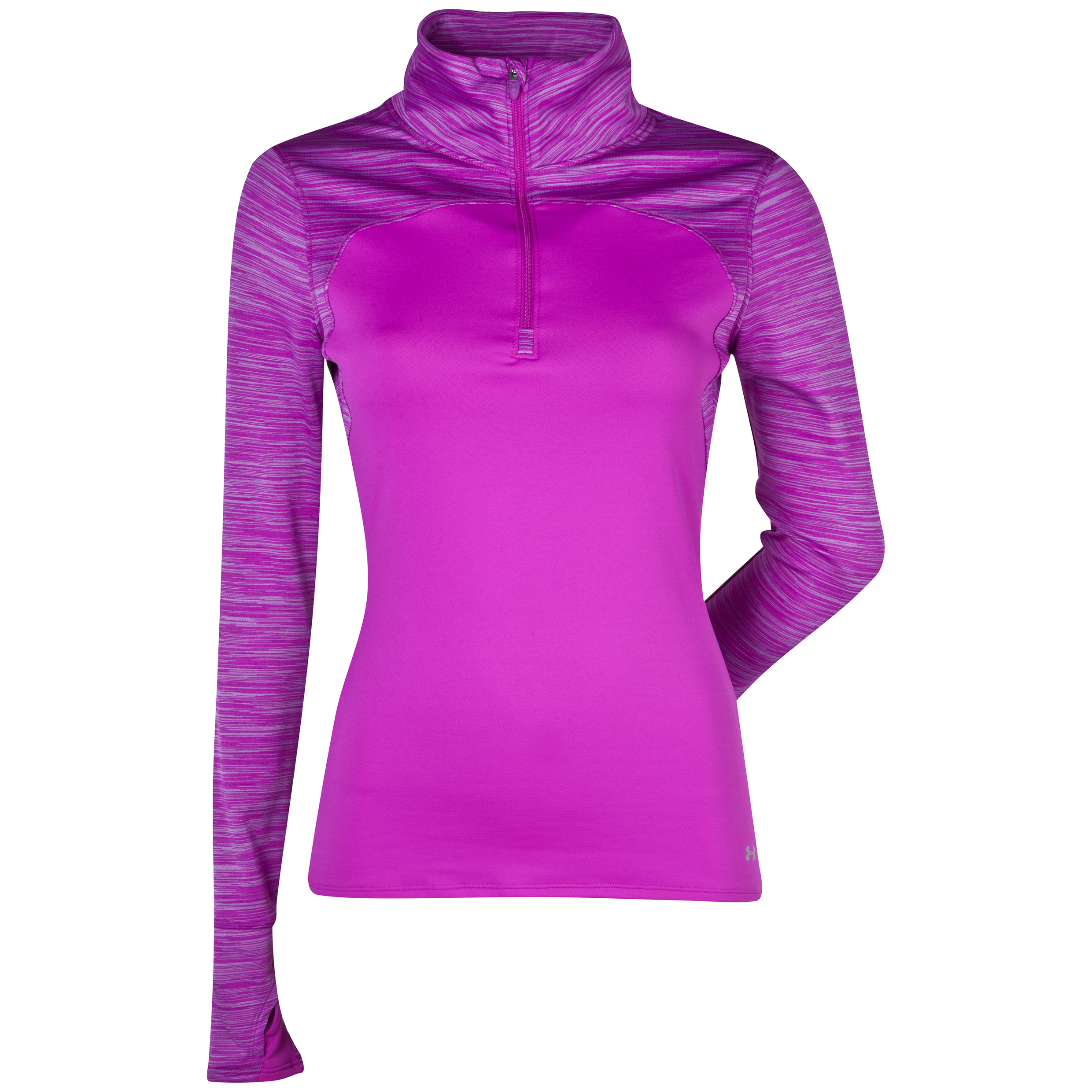 Running Under Armour Printed Qualifier Knit 1/4 Zip - Womens Purple