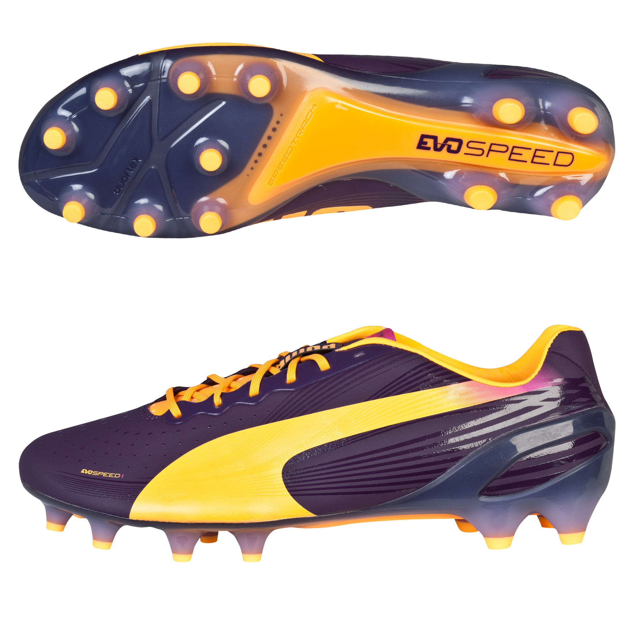 Puma evoSPEED 1.2 Firm Ground Football Boots Blue