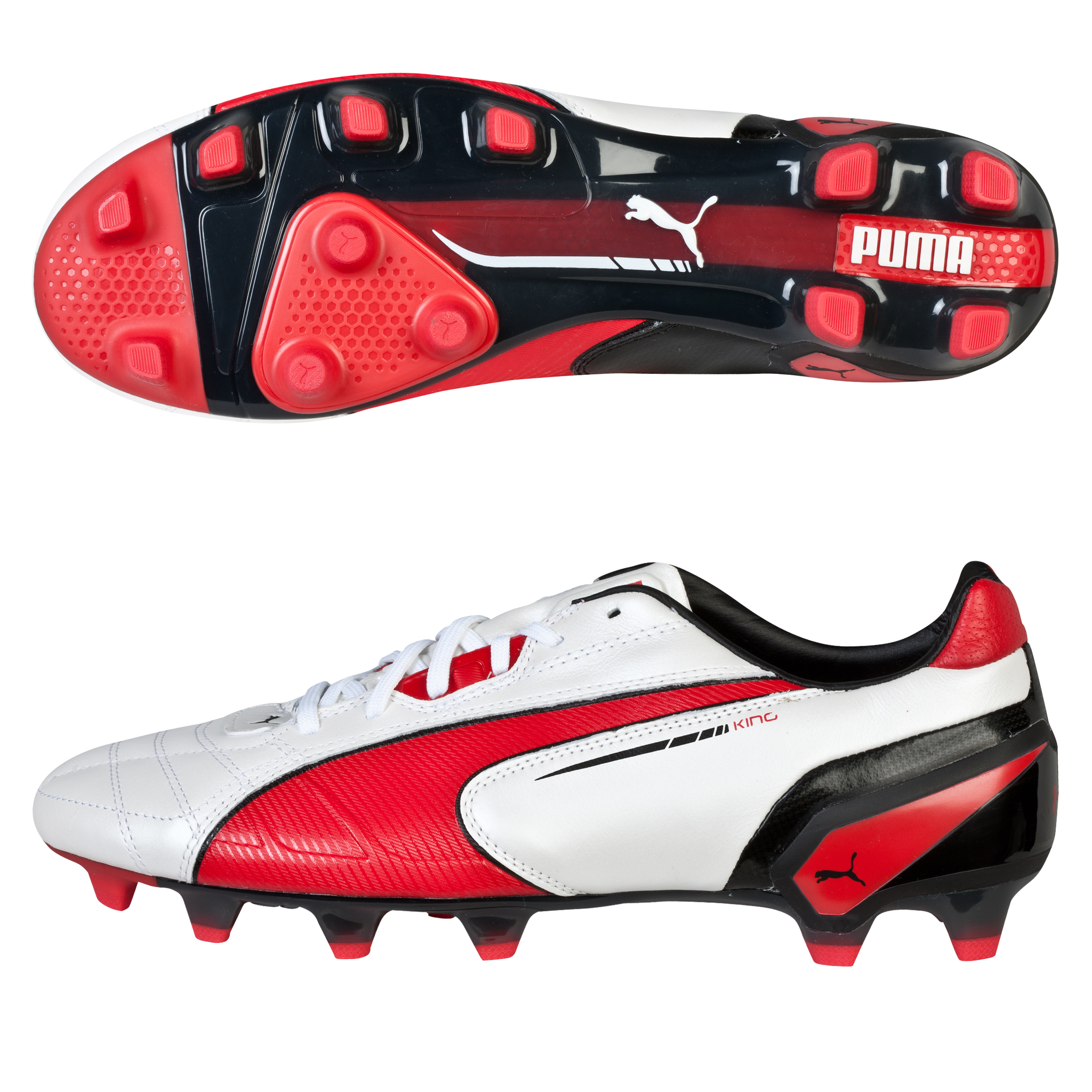 Puma King Firm Ground White