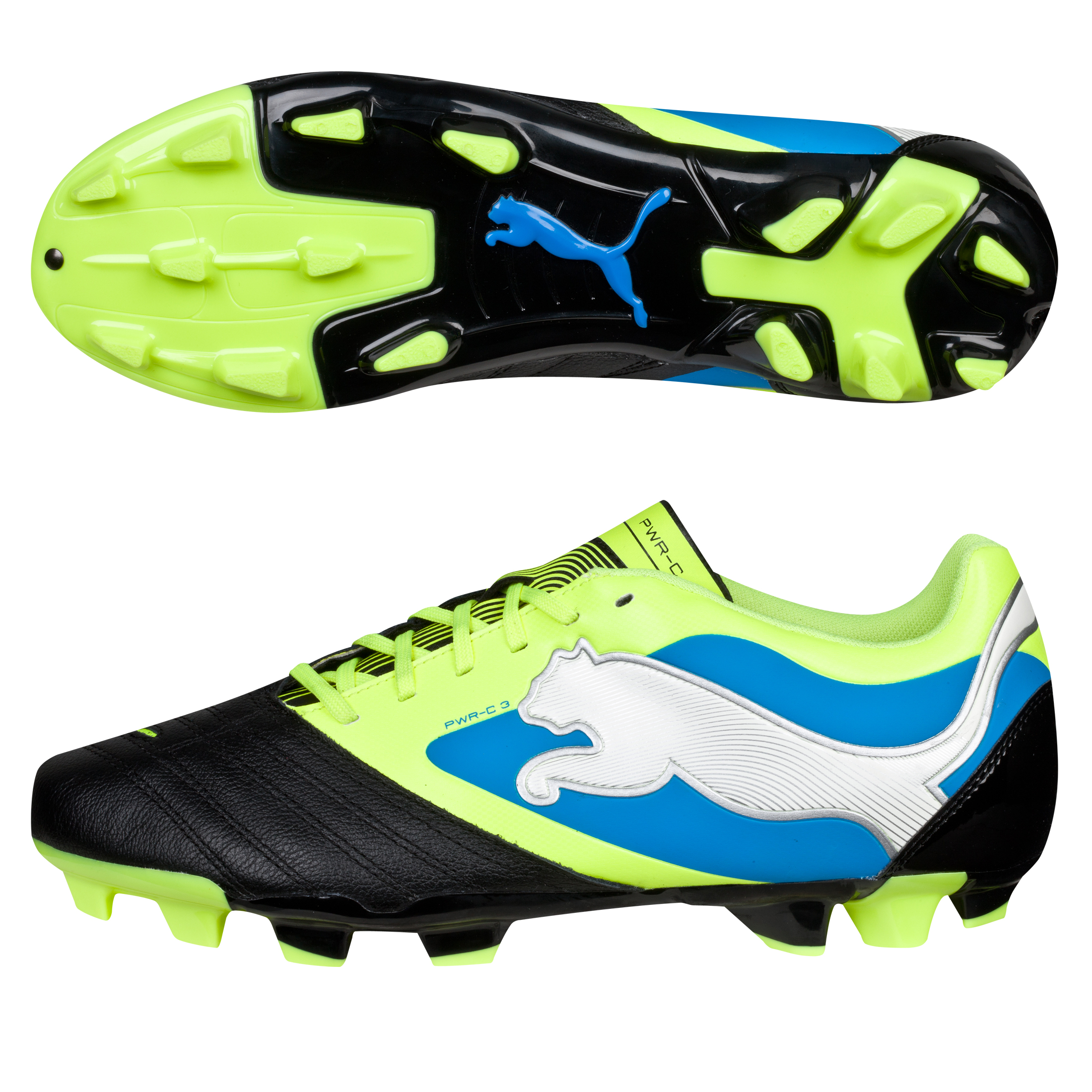 Puma PowerCat 3 Firm Ground Football Boots Black