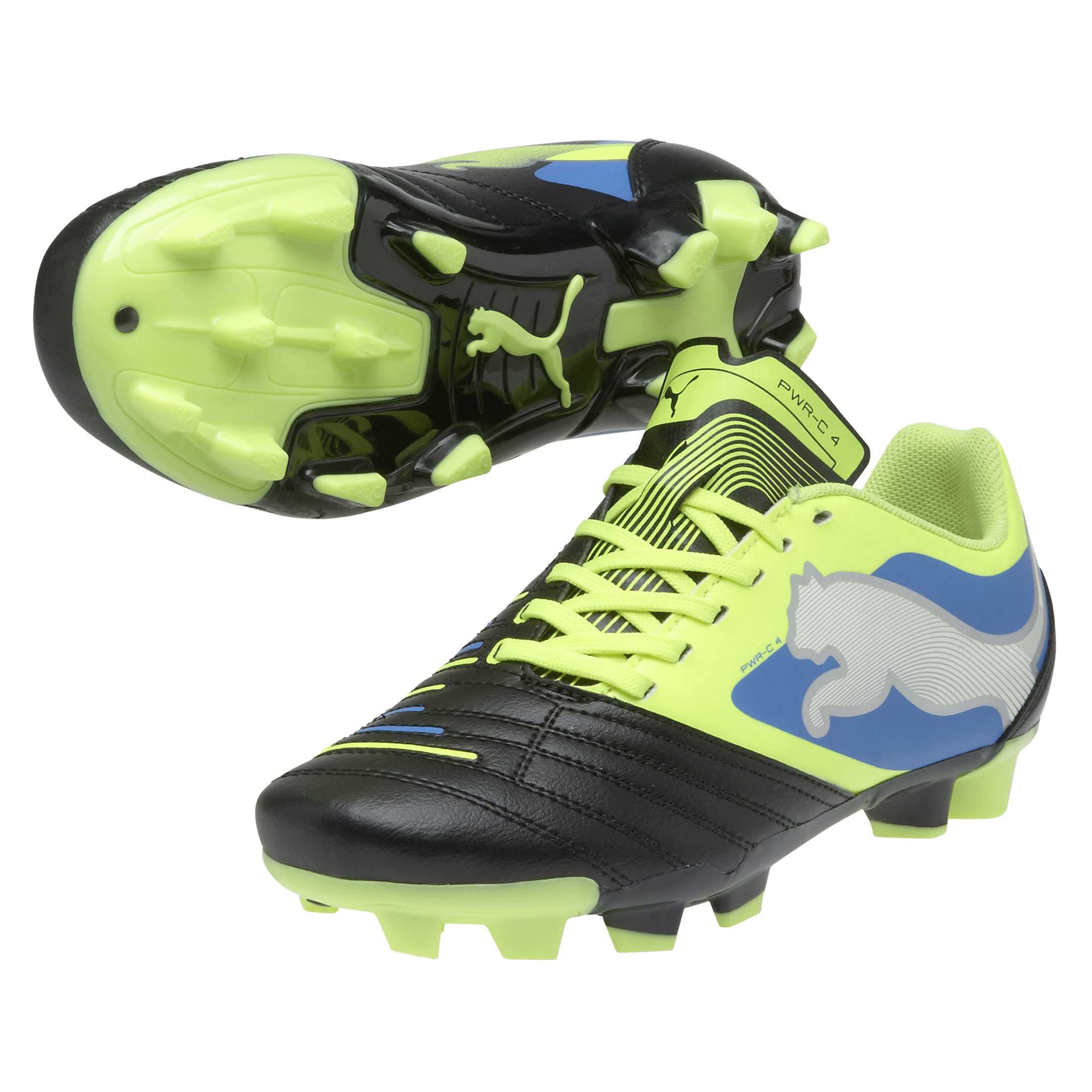 Puma PowerCat 4 Firm Ground Football Boots - Kids Black