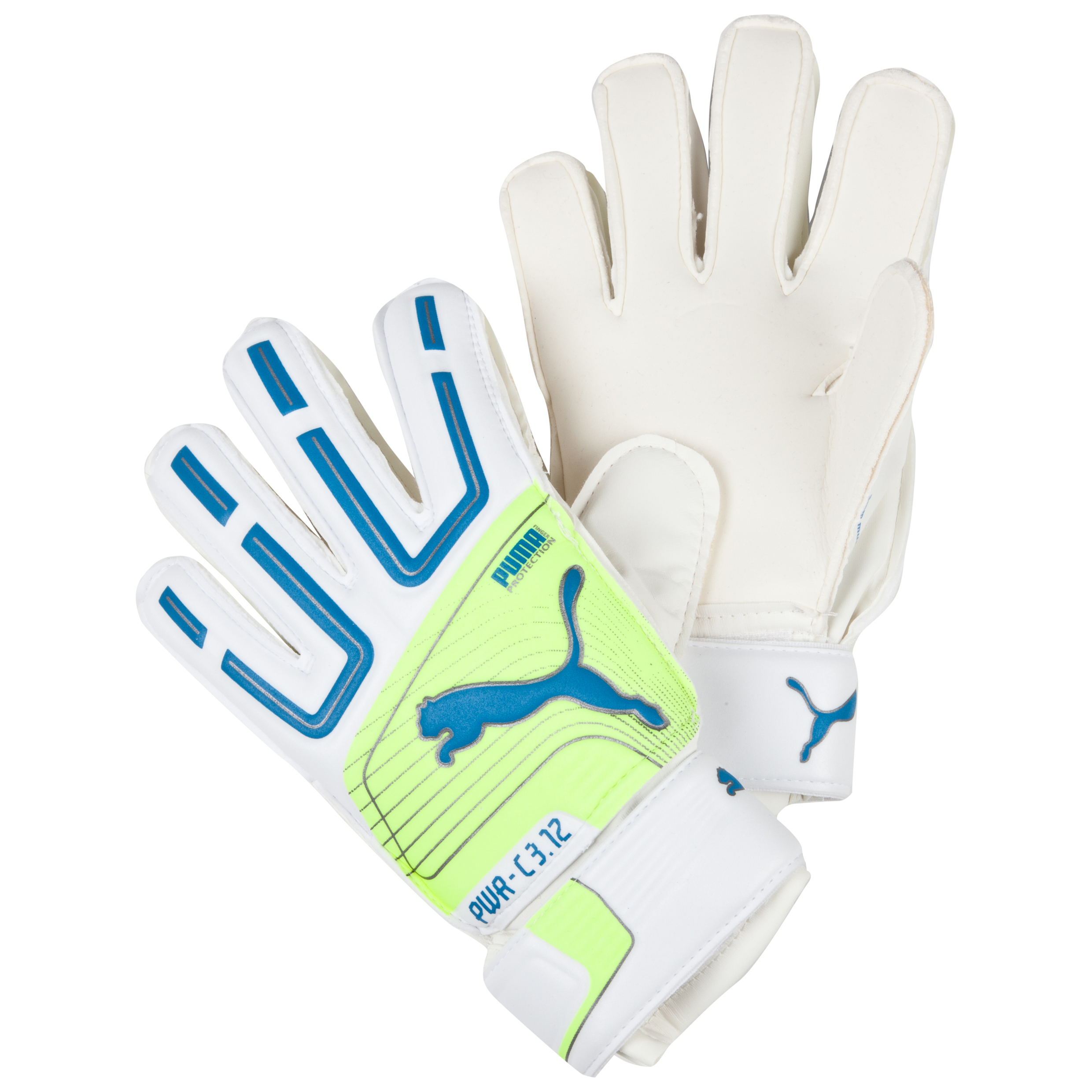 Puma PowerCat 3.12 Protect Goalkeeper Gloves White