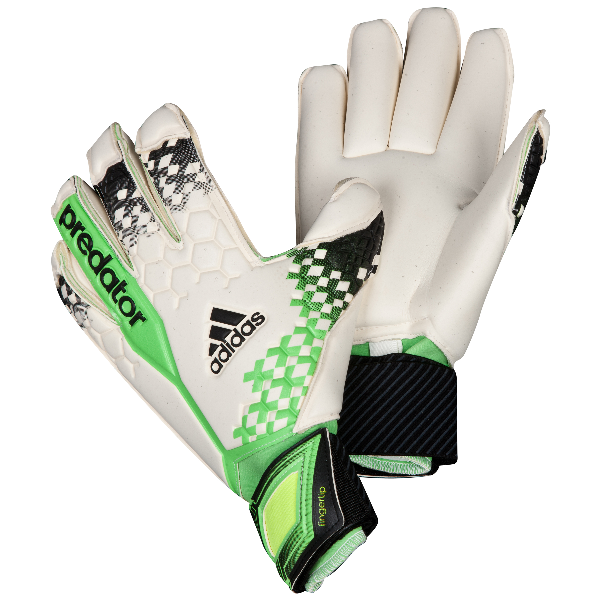 Adidas Predator Finger Tip Goalkeeper Gloves White