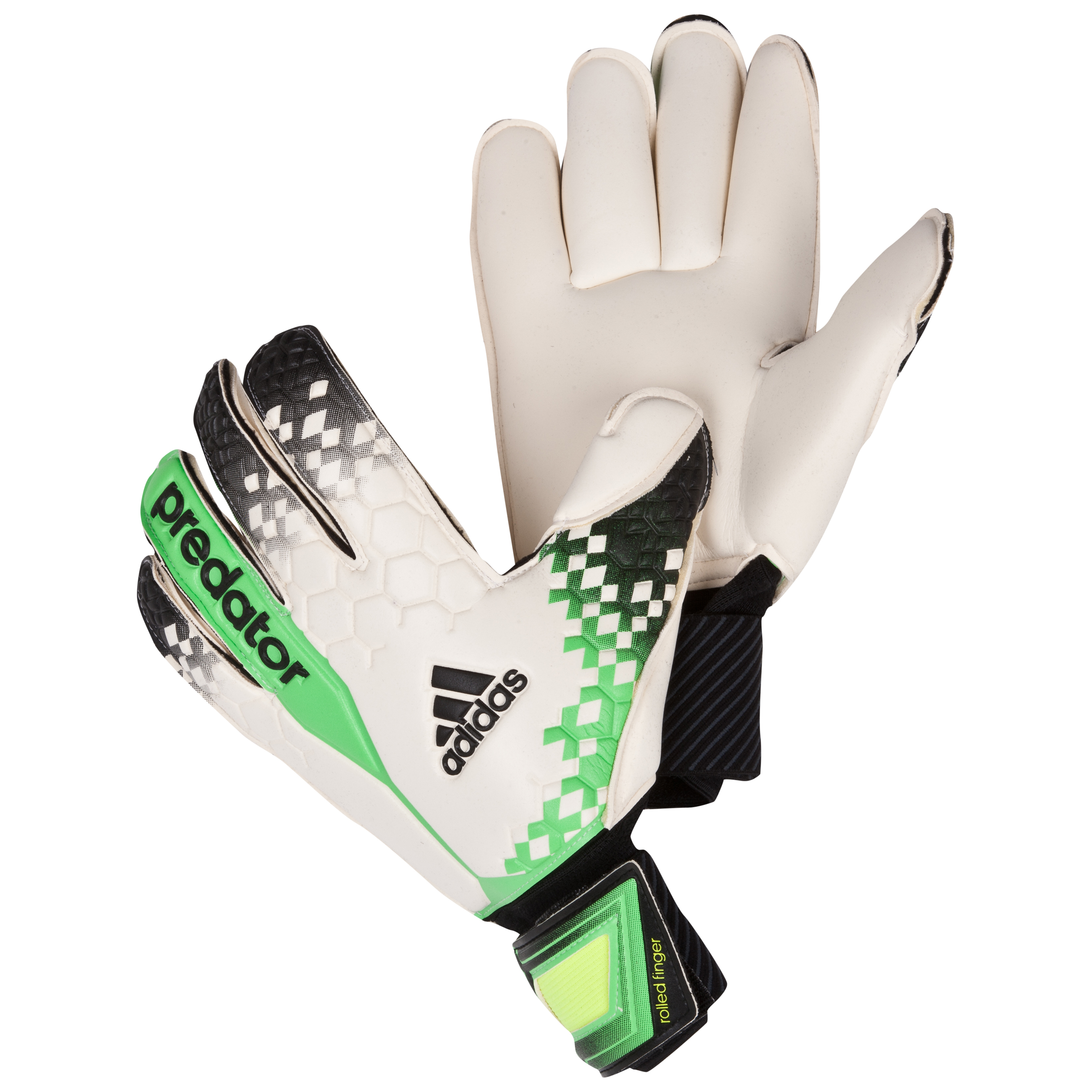 Adidas Predator Roll Finger Goalkeeper Gloves White