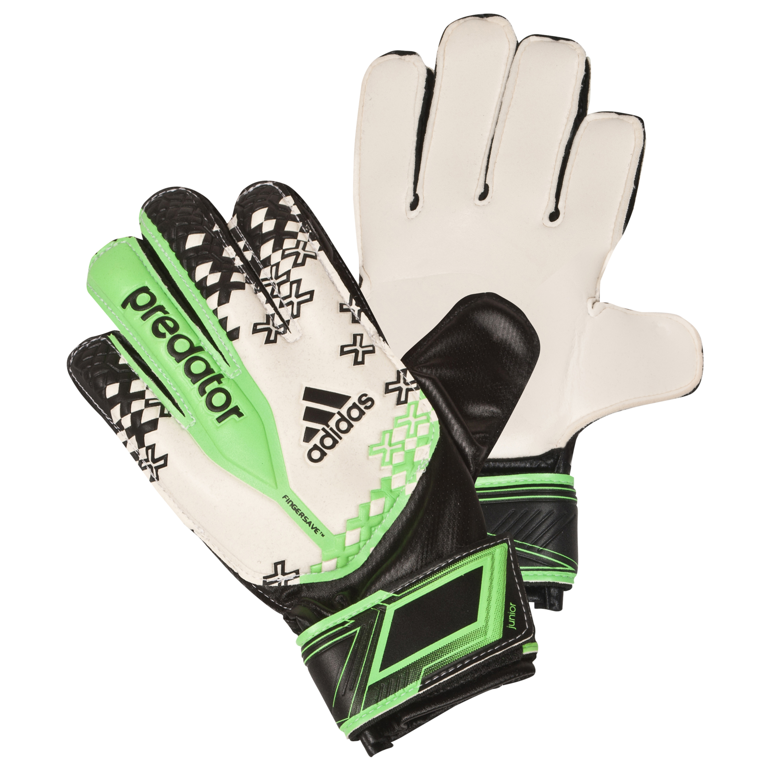 Adidas Predator Finger Save Goalkeeper Gloves White