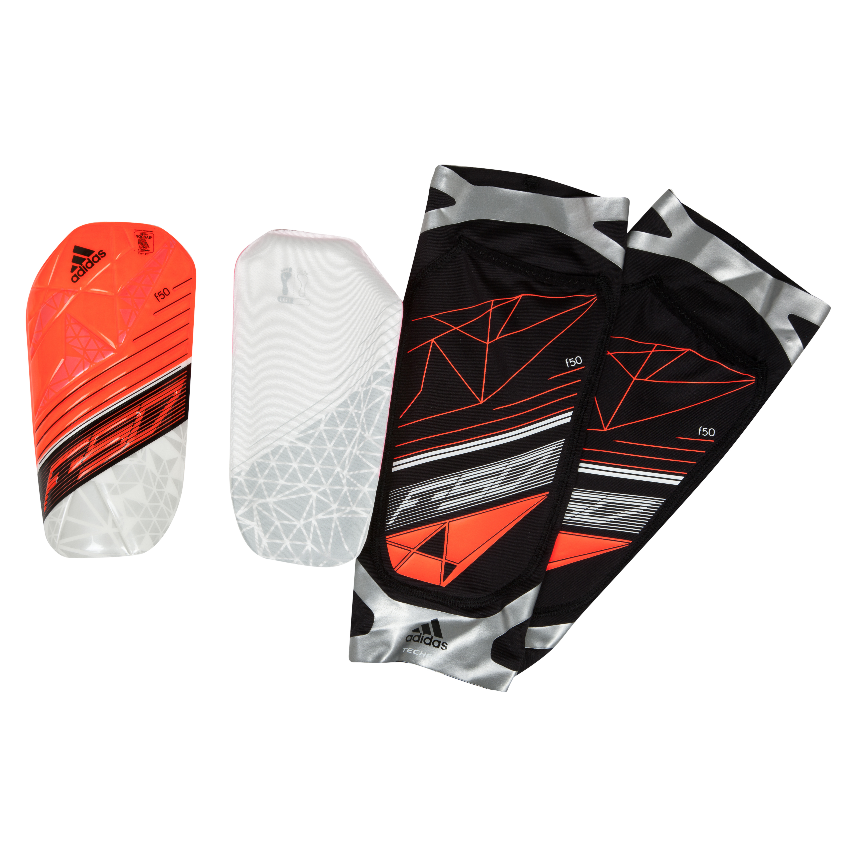 Adidas AdiZero F50 TechFit Shinguards Red