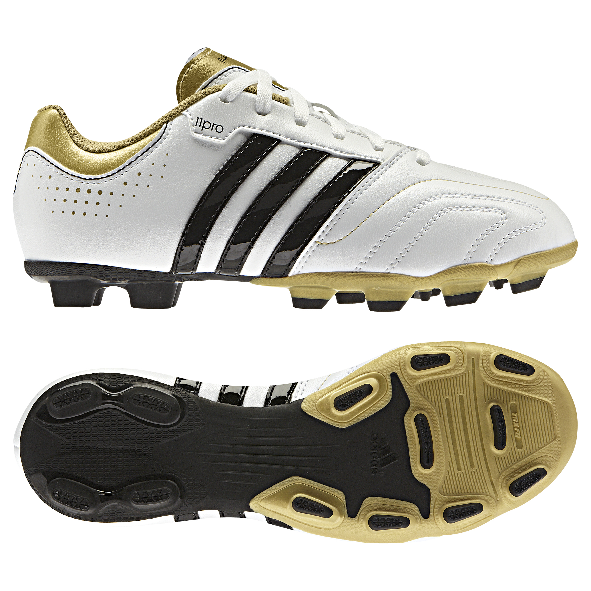Adidas 11Questra TRX Firm Ground Football Boots - kids White