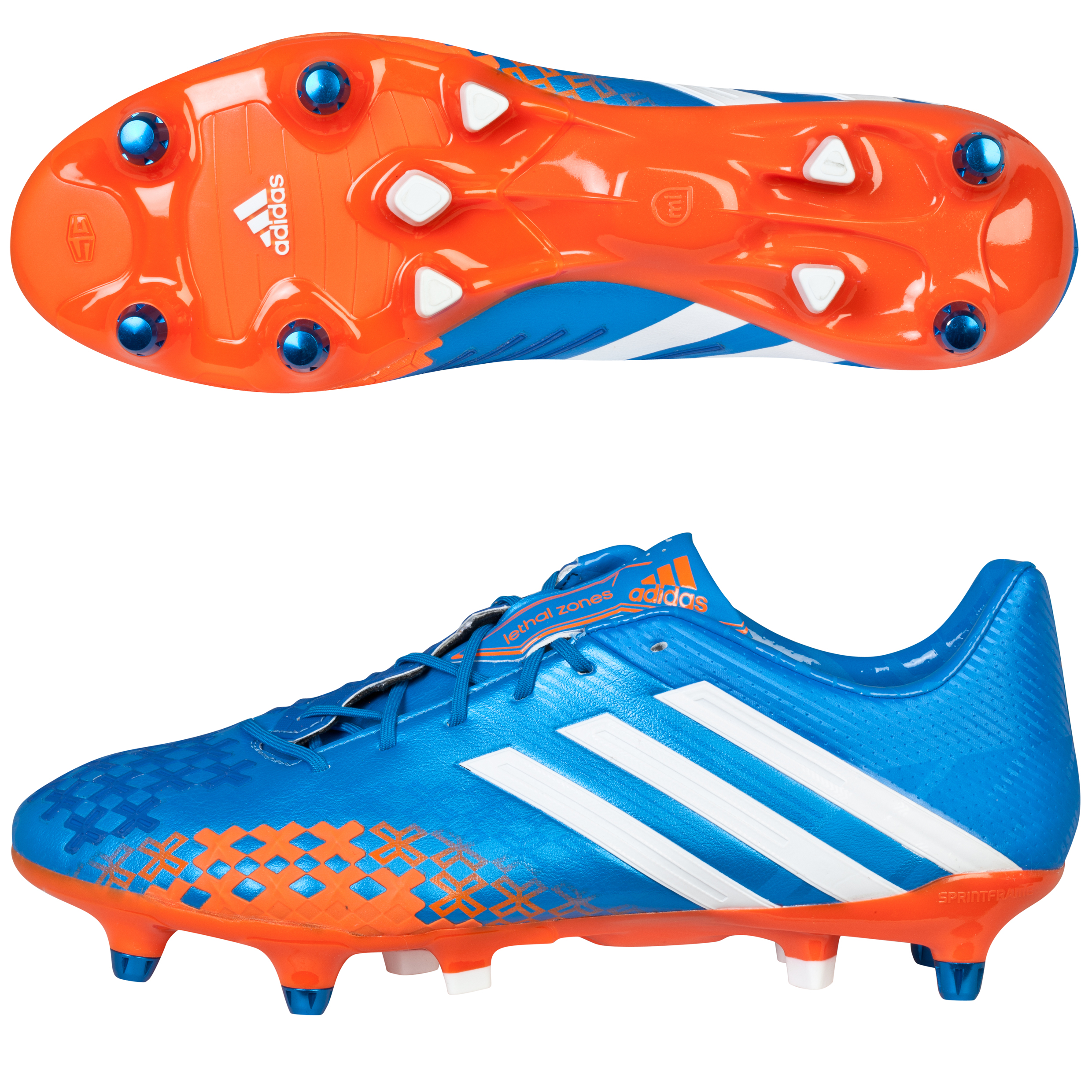 Adidas Predator LZ XTRX Soft Ground Football Boots Blue