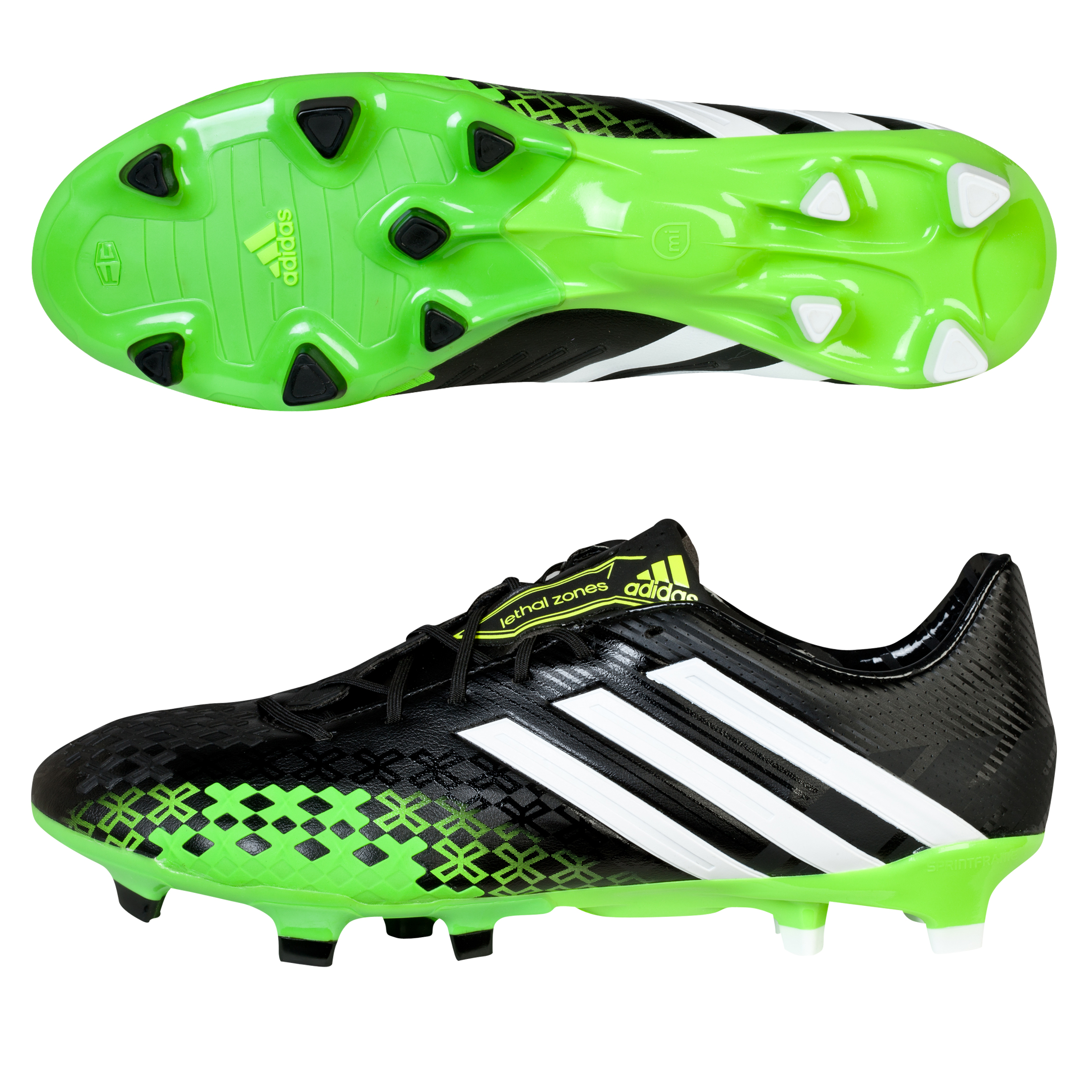 Adidas Predator LZ TRX Firm Ground Football Boots Black