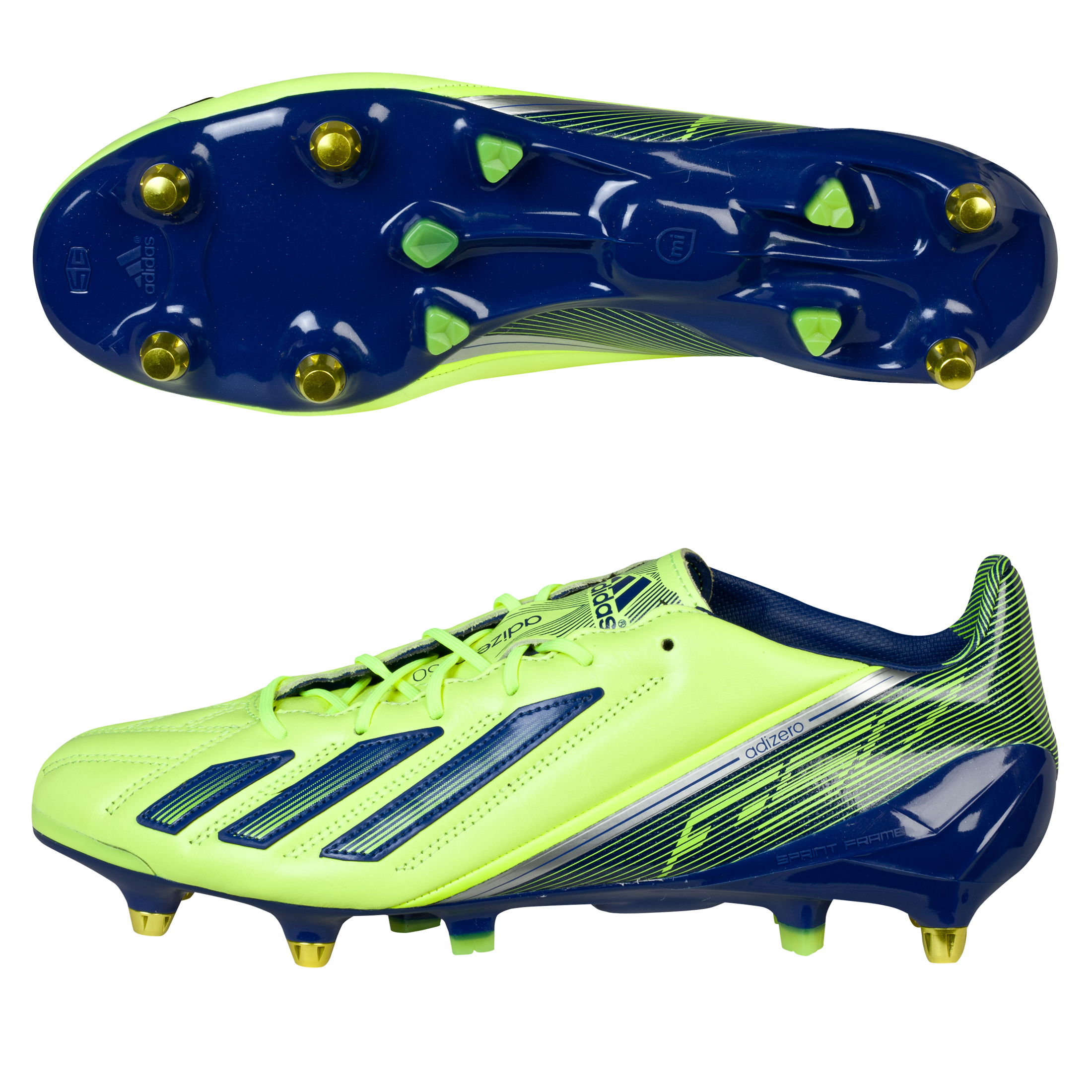Adidas adizero F50 XTRX Leather Soft Ground Football Boots Yellow