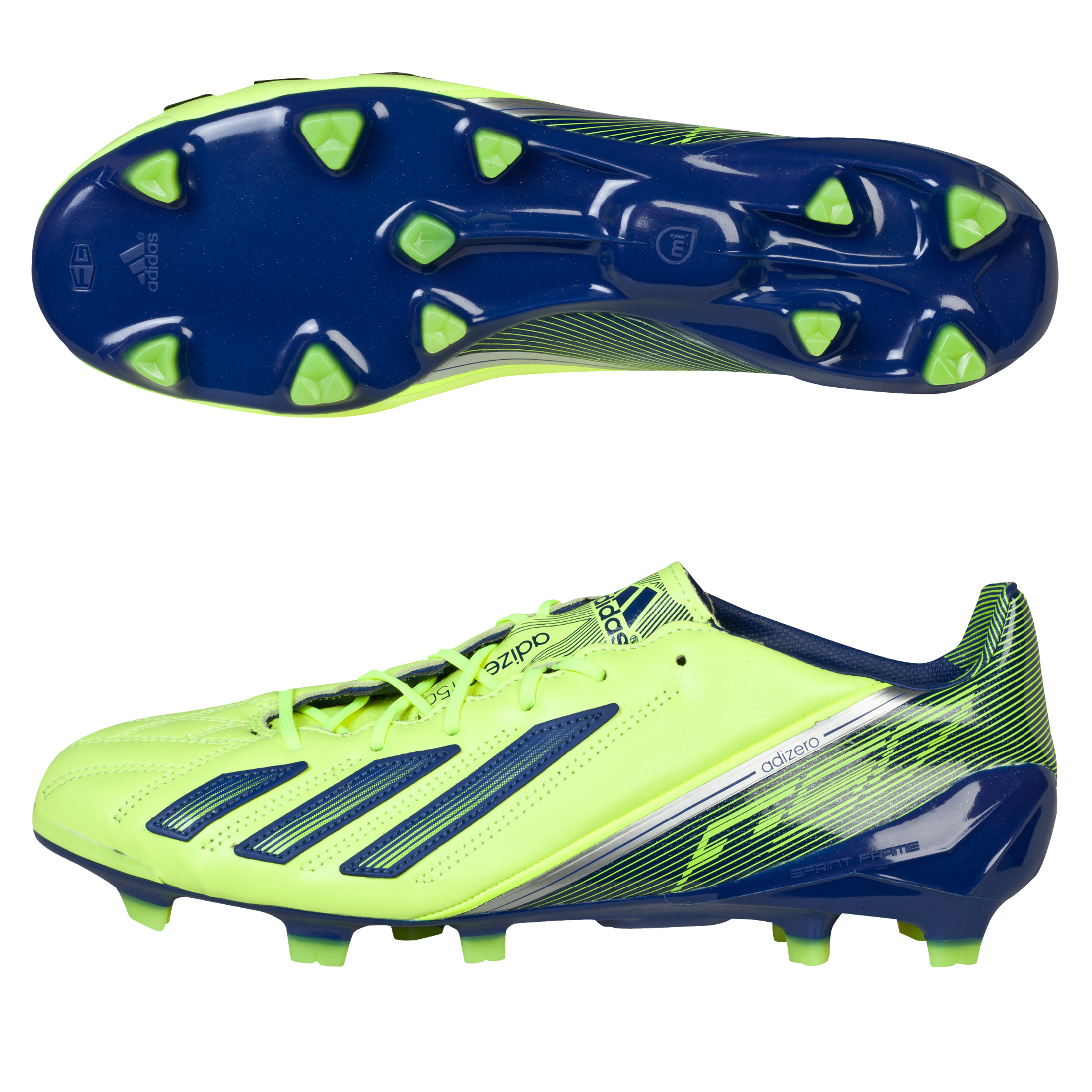 Adidas adizero F50 TRX Leather Firm Ground Football Boots Yellow