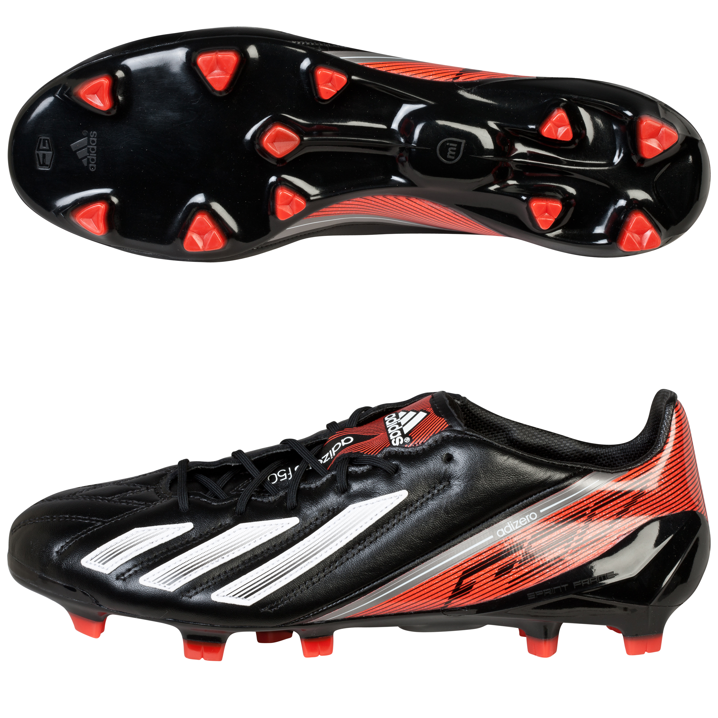 Adidas adizero F50 TRX Leather Firm Ground Football Boots Black