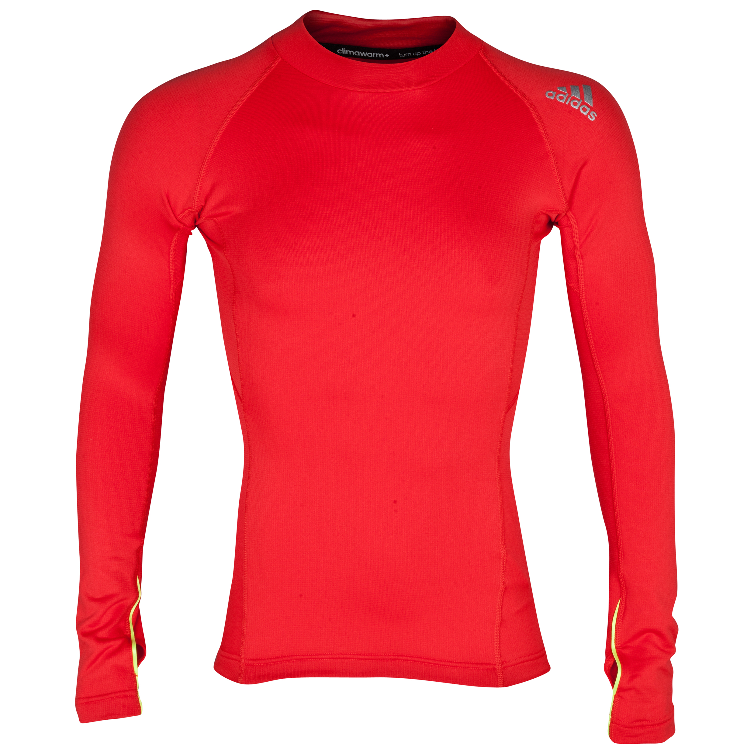 Adidas TechFit Hollow Mock Base Layer Top Red