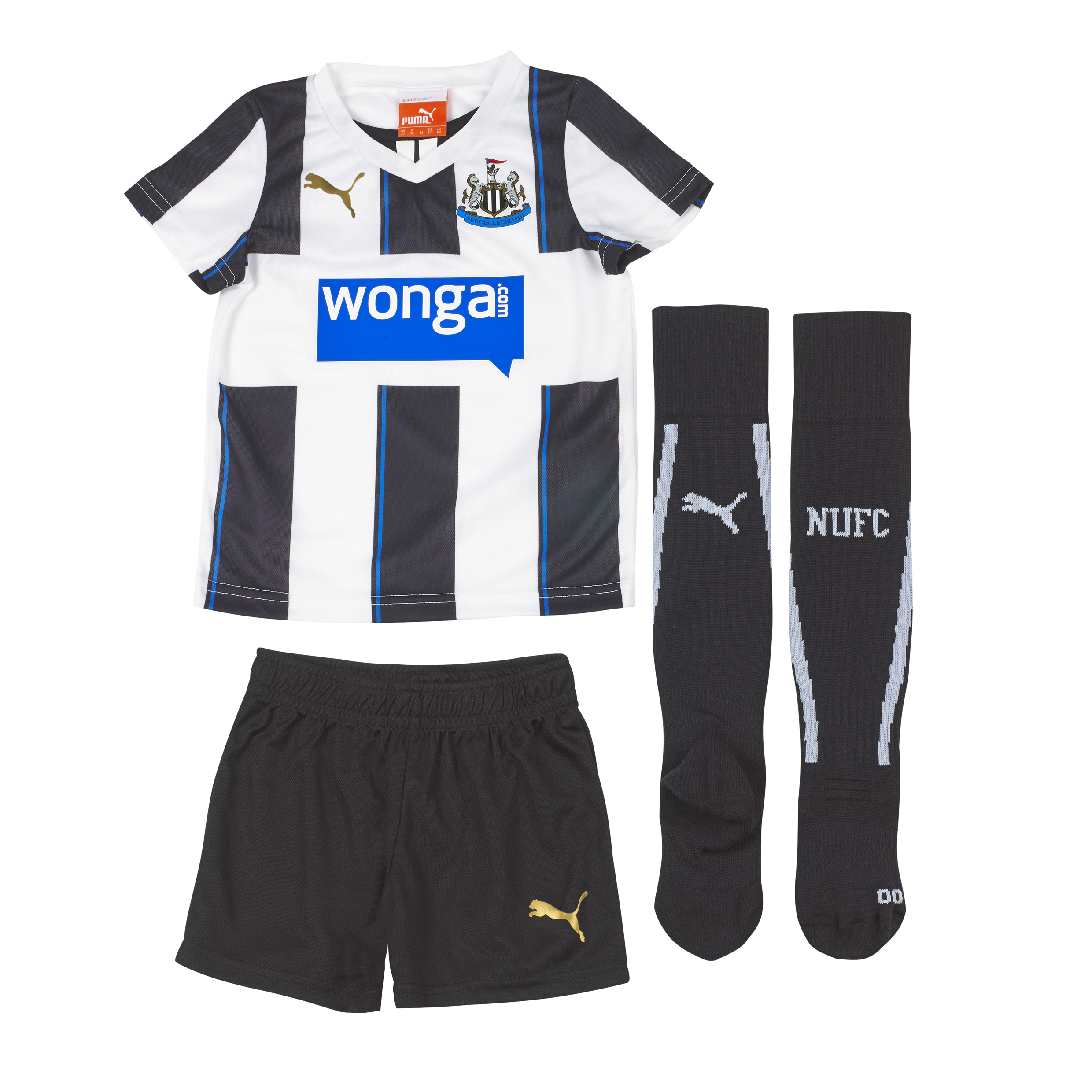 Newcastle United Home Mini Kit 2013/14